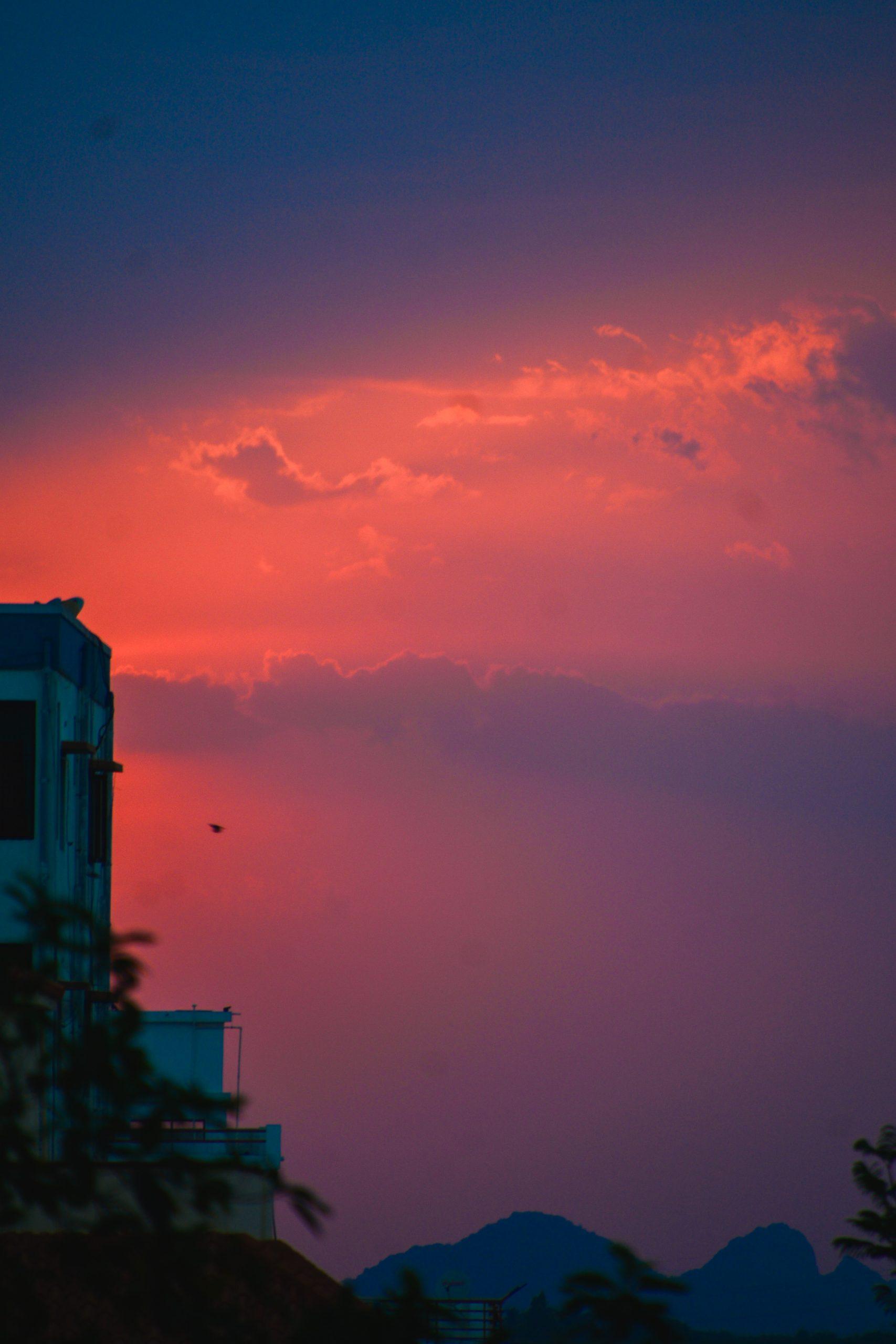 Golden sky during sunset