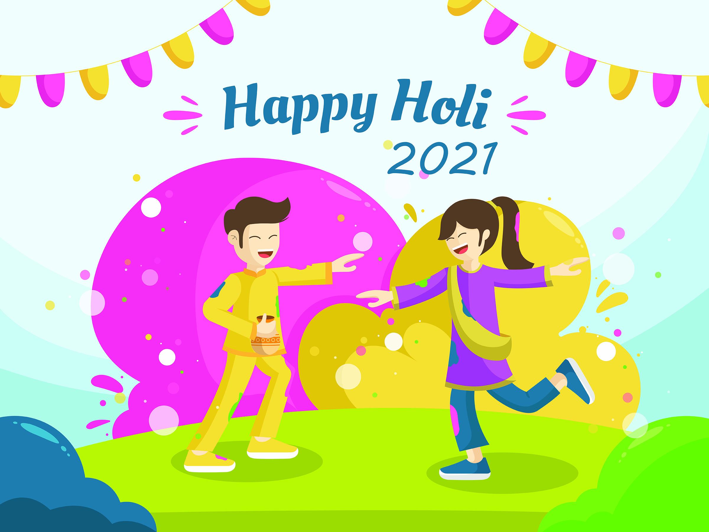 Happy Holi 2021 Illustrations