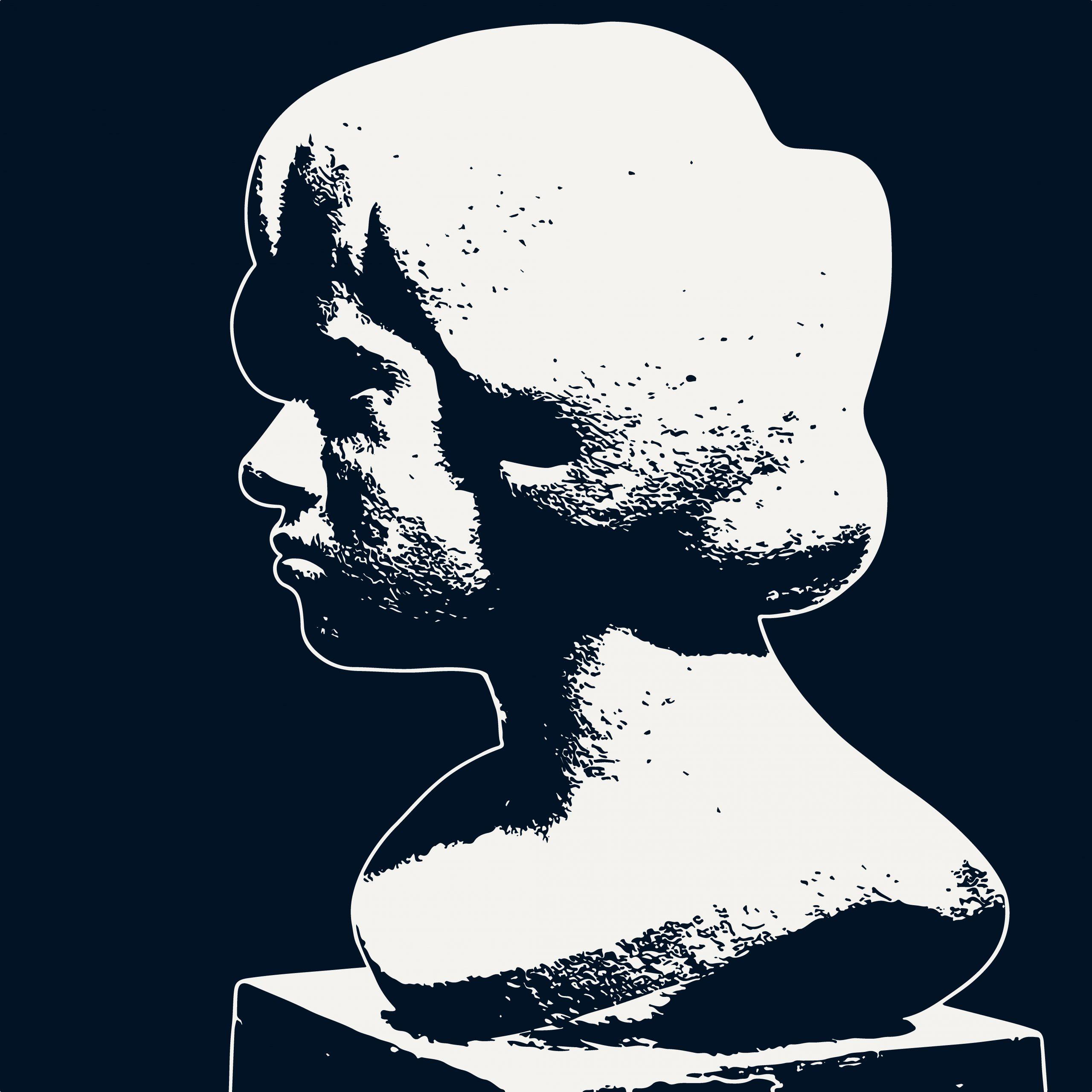 Human sculpture illustration