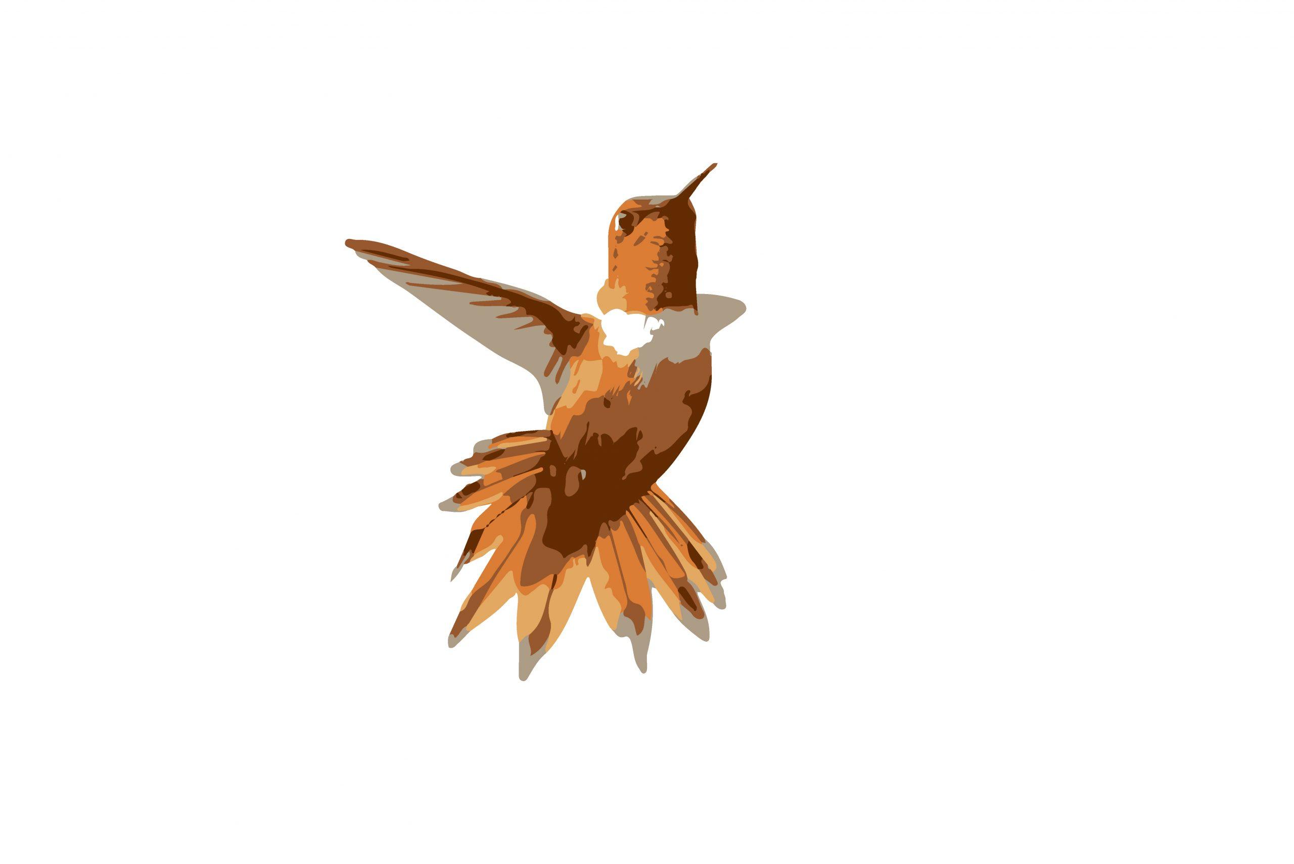 Illustration of a flying bird