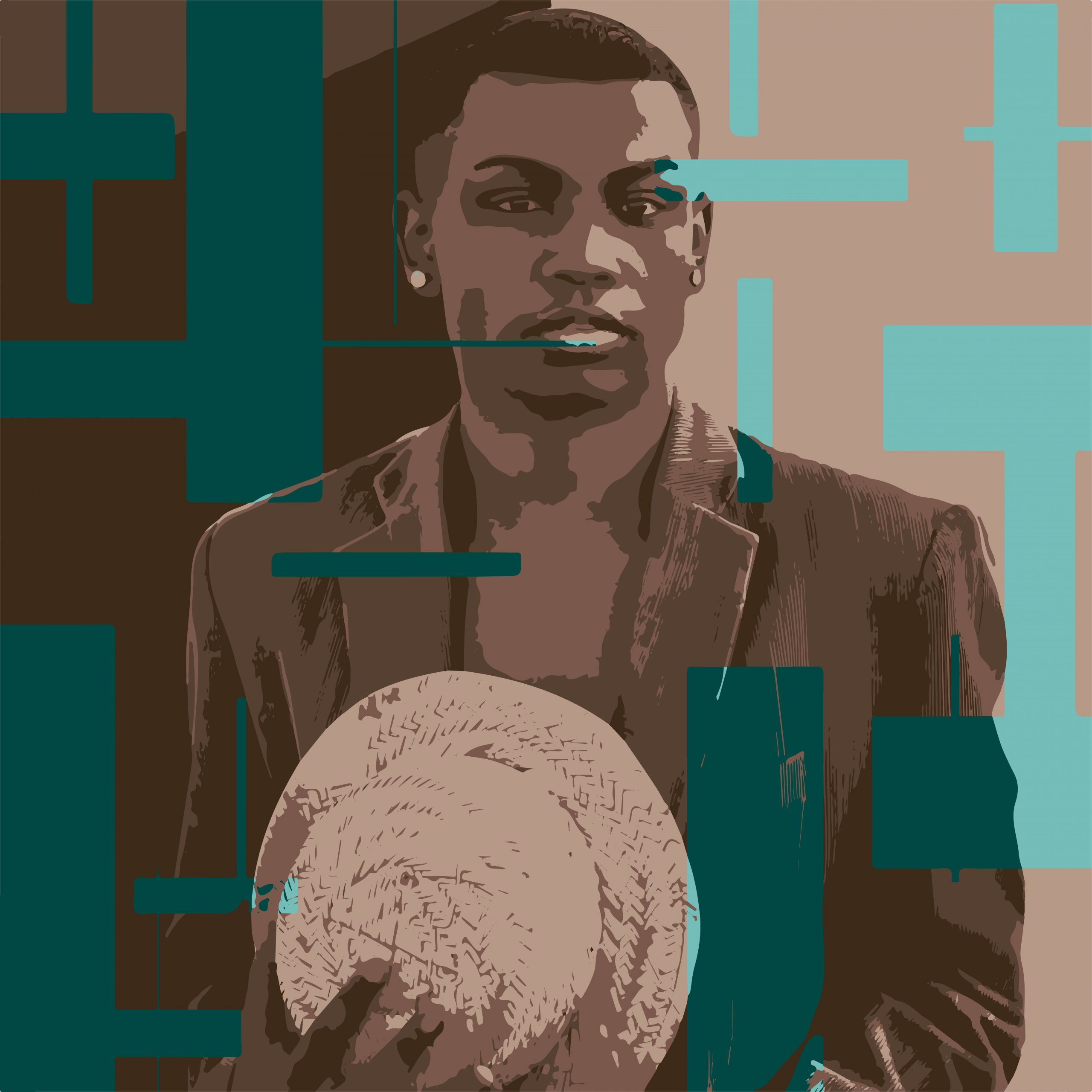 Illustration portrait of an African man