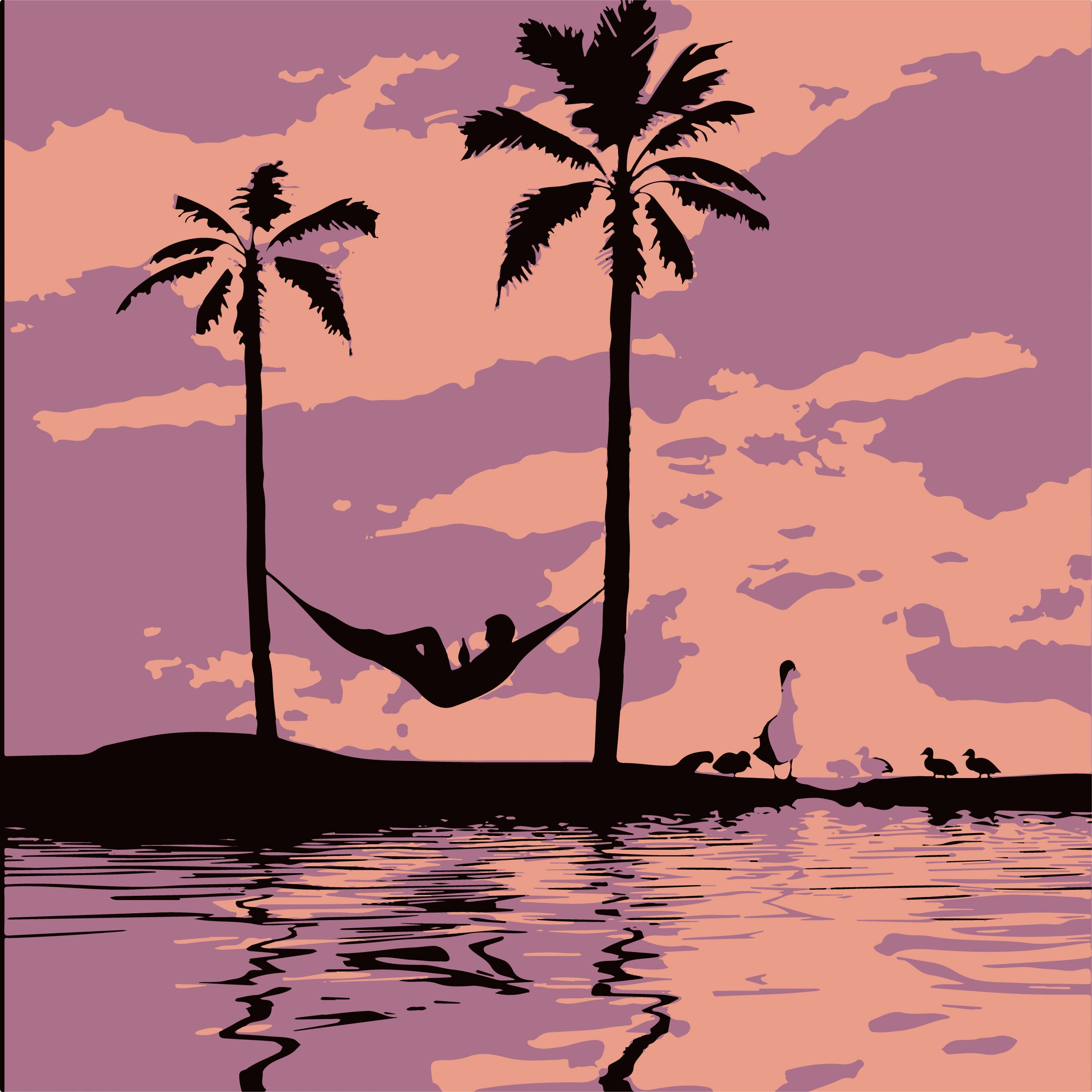 ILLUSTRATION of a Beach