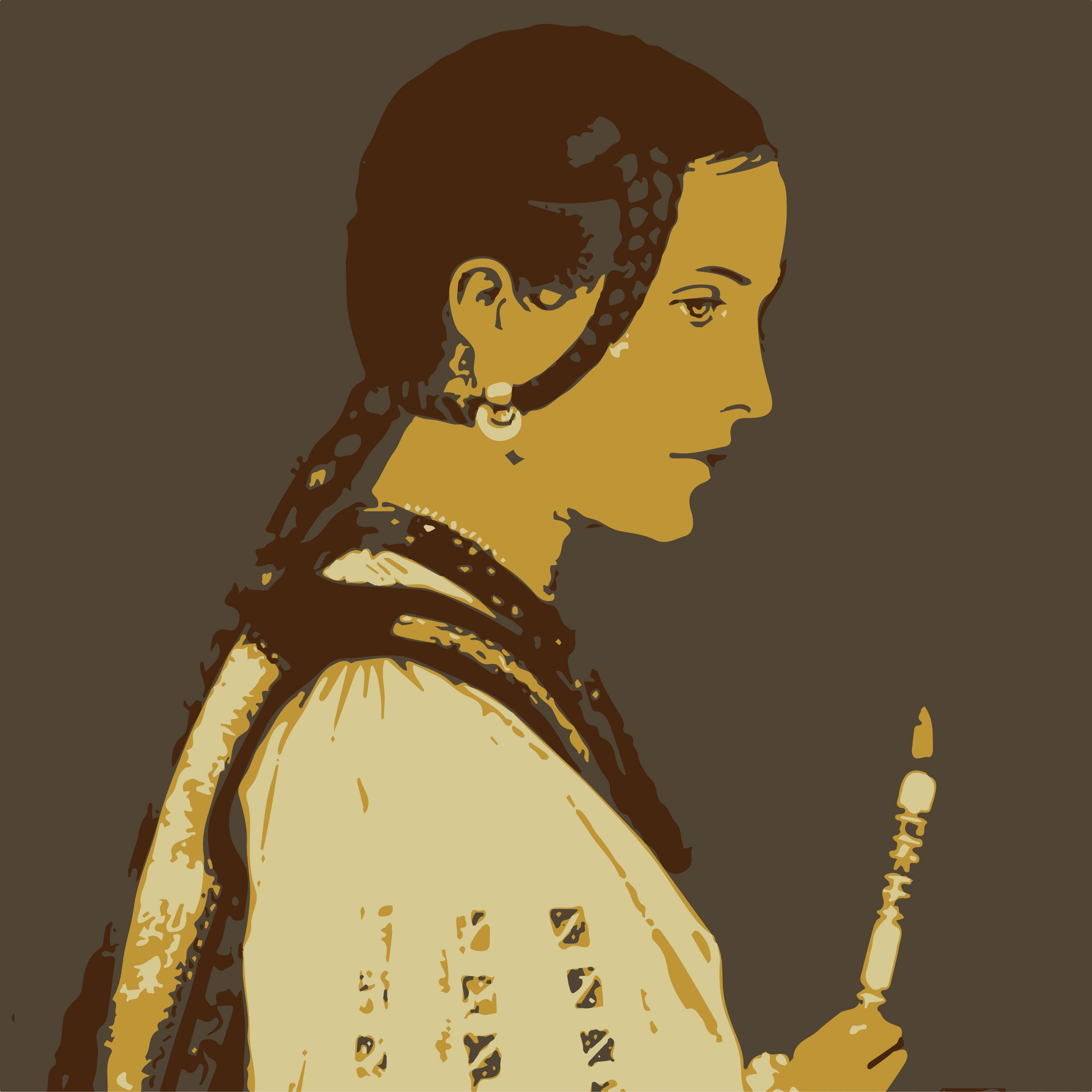 ILLUSTRATION of lady with candle
