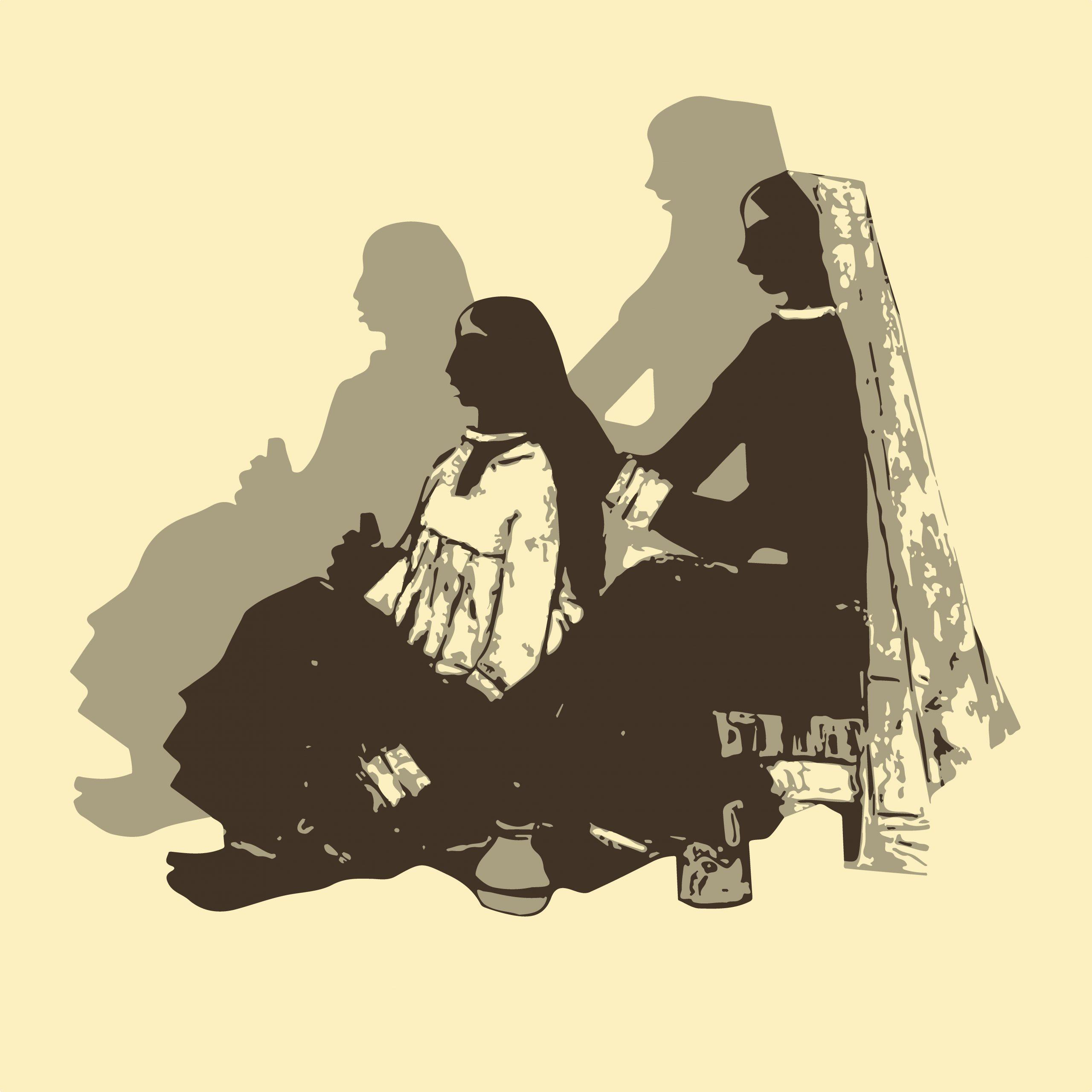 ILLUSTRATION of two ladies