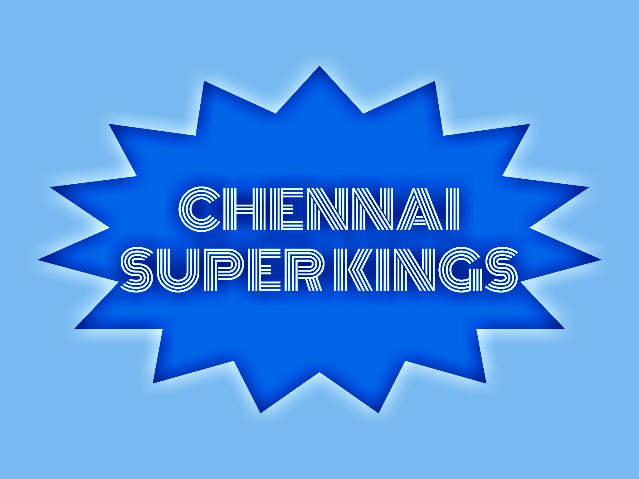 IPL team Chennai Superkings illustration