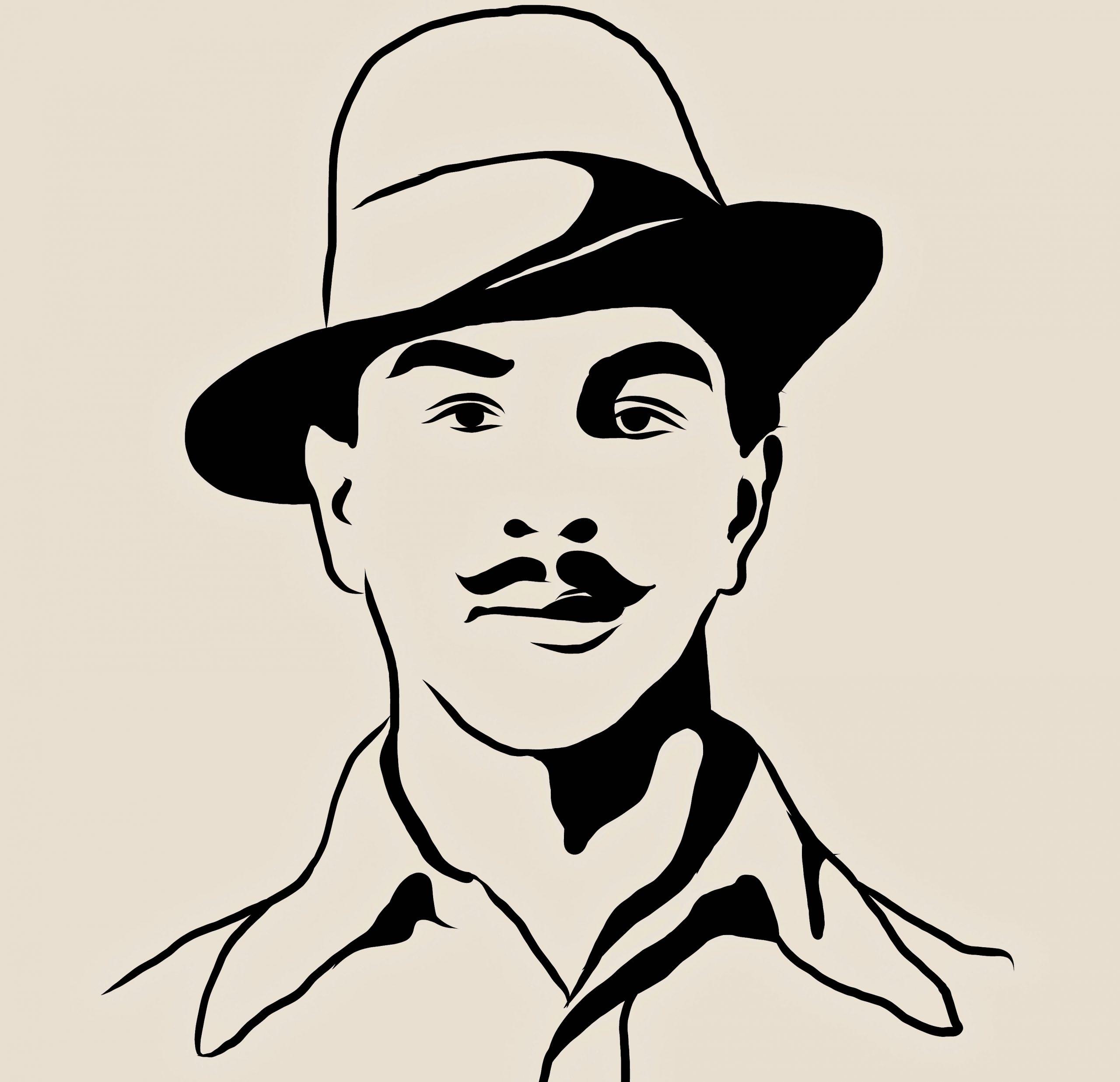 Illustration of Bhagat Singh