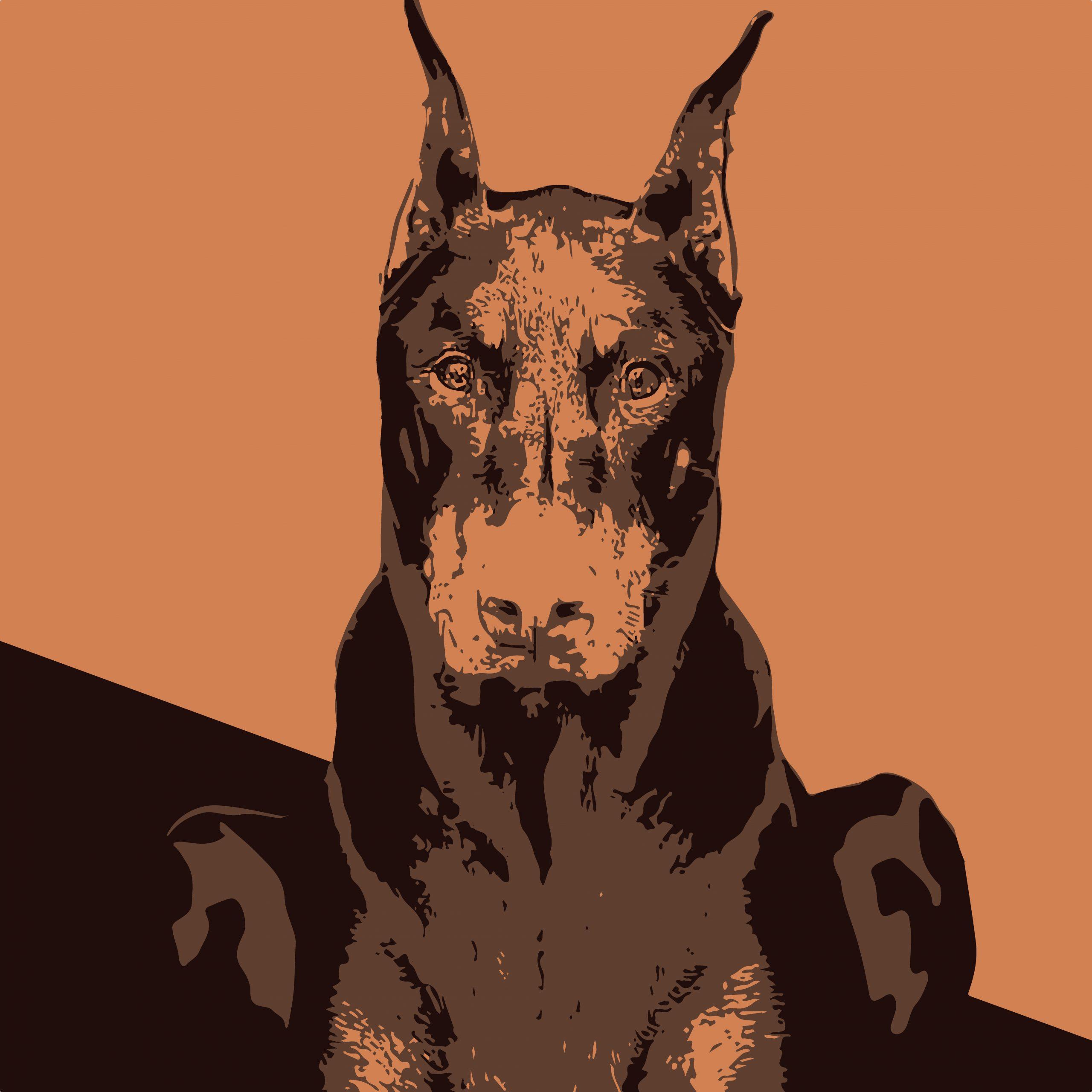 Illustration of guard dog