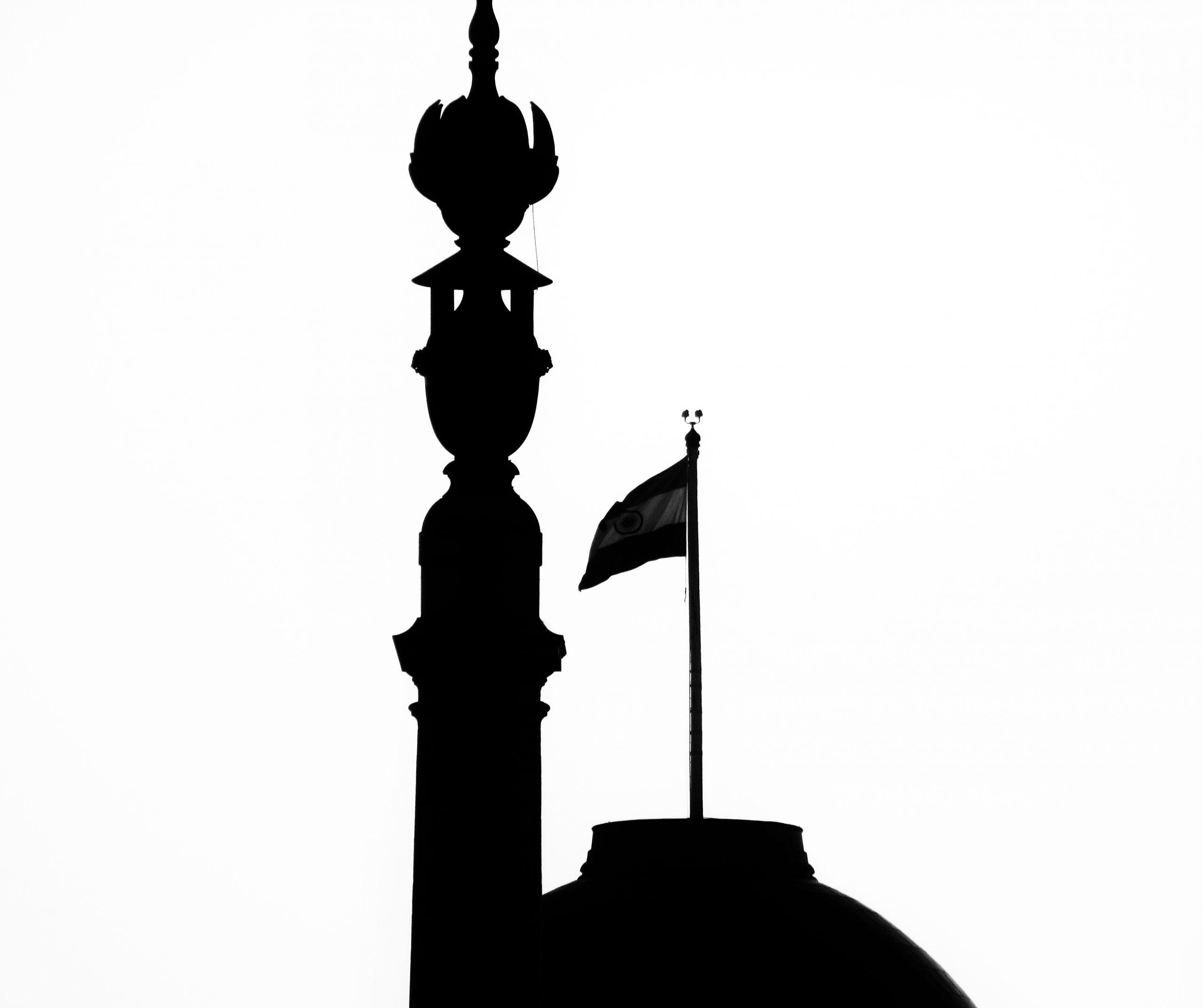 Indian flag on a landmark