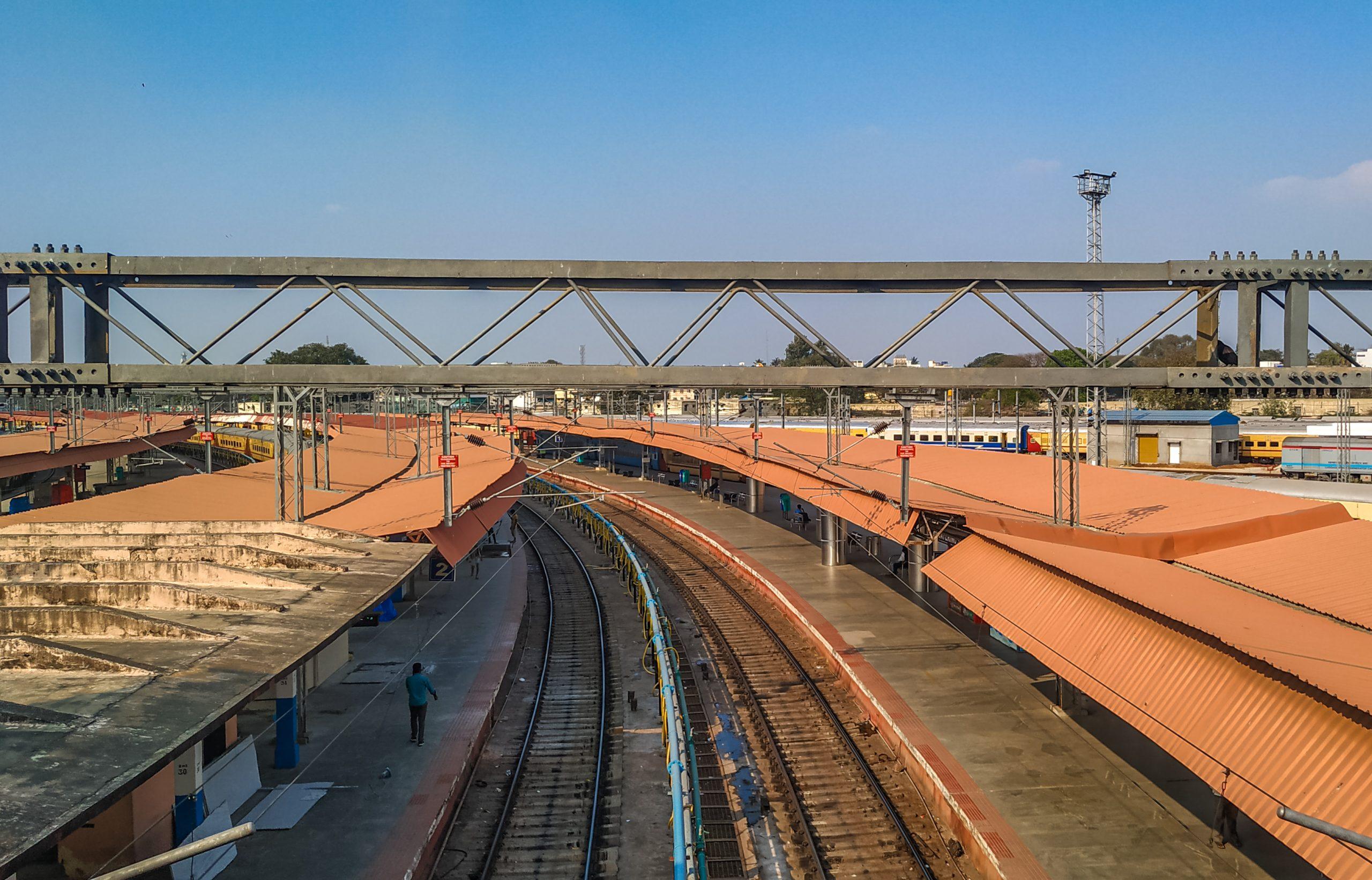Indian railway crossing bridge