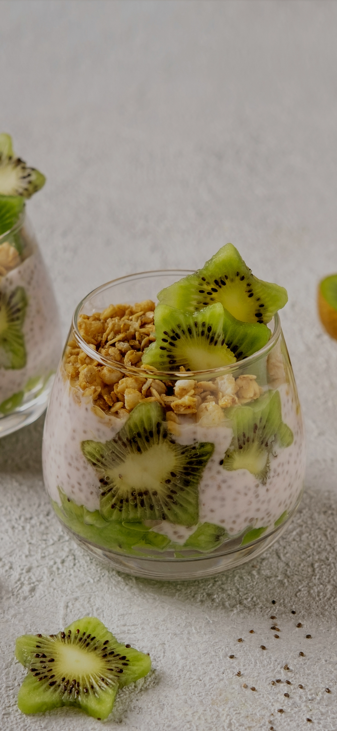 Kiwi fruit in the cup