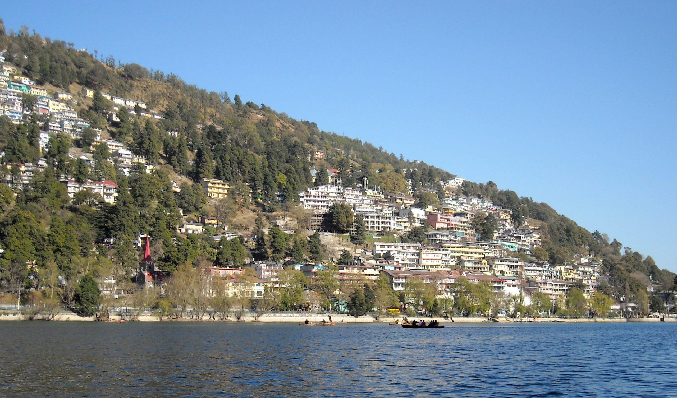 Lake near the city
