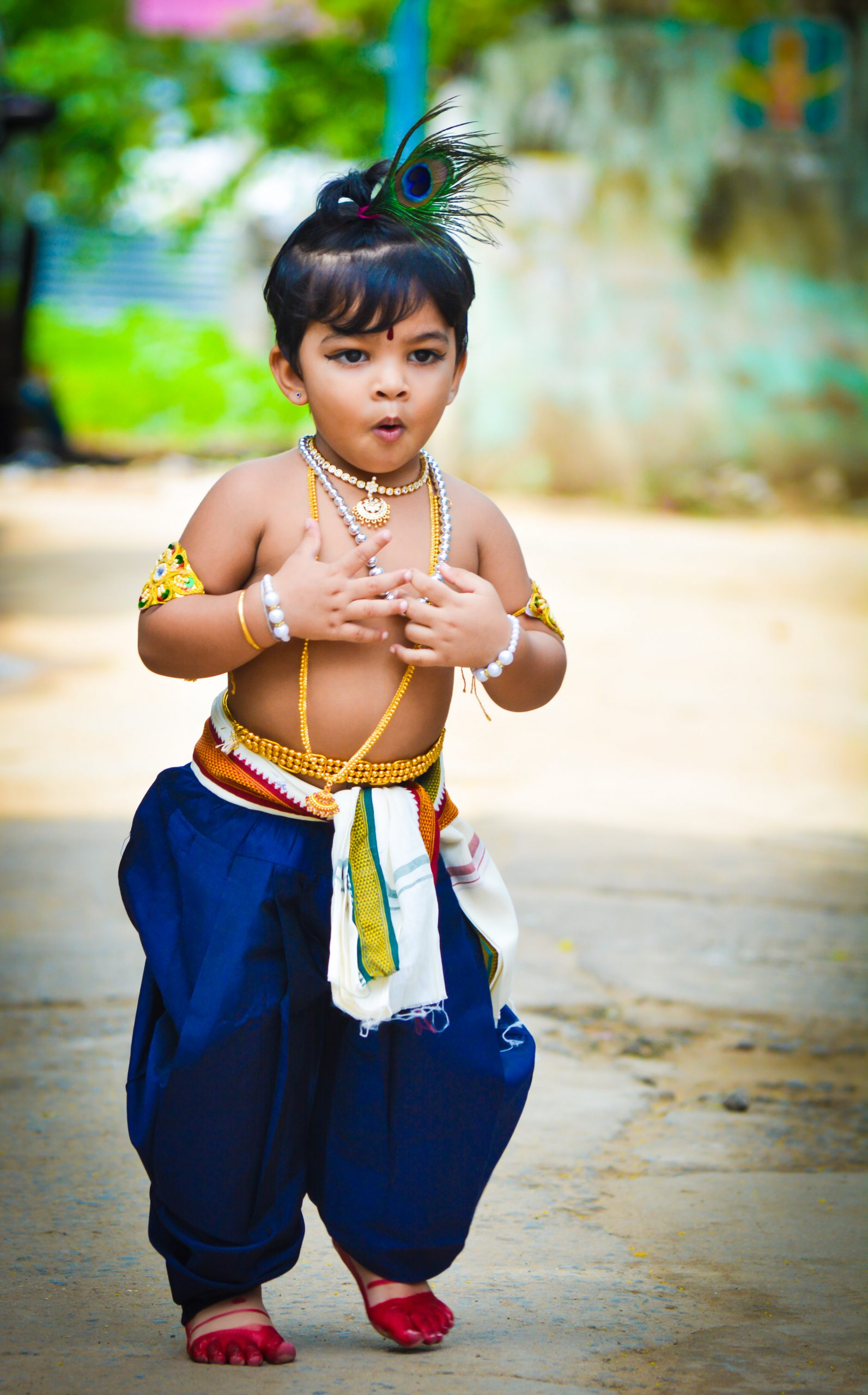 Little baby in Krishna Avtar