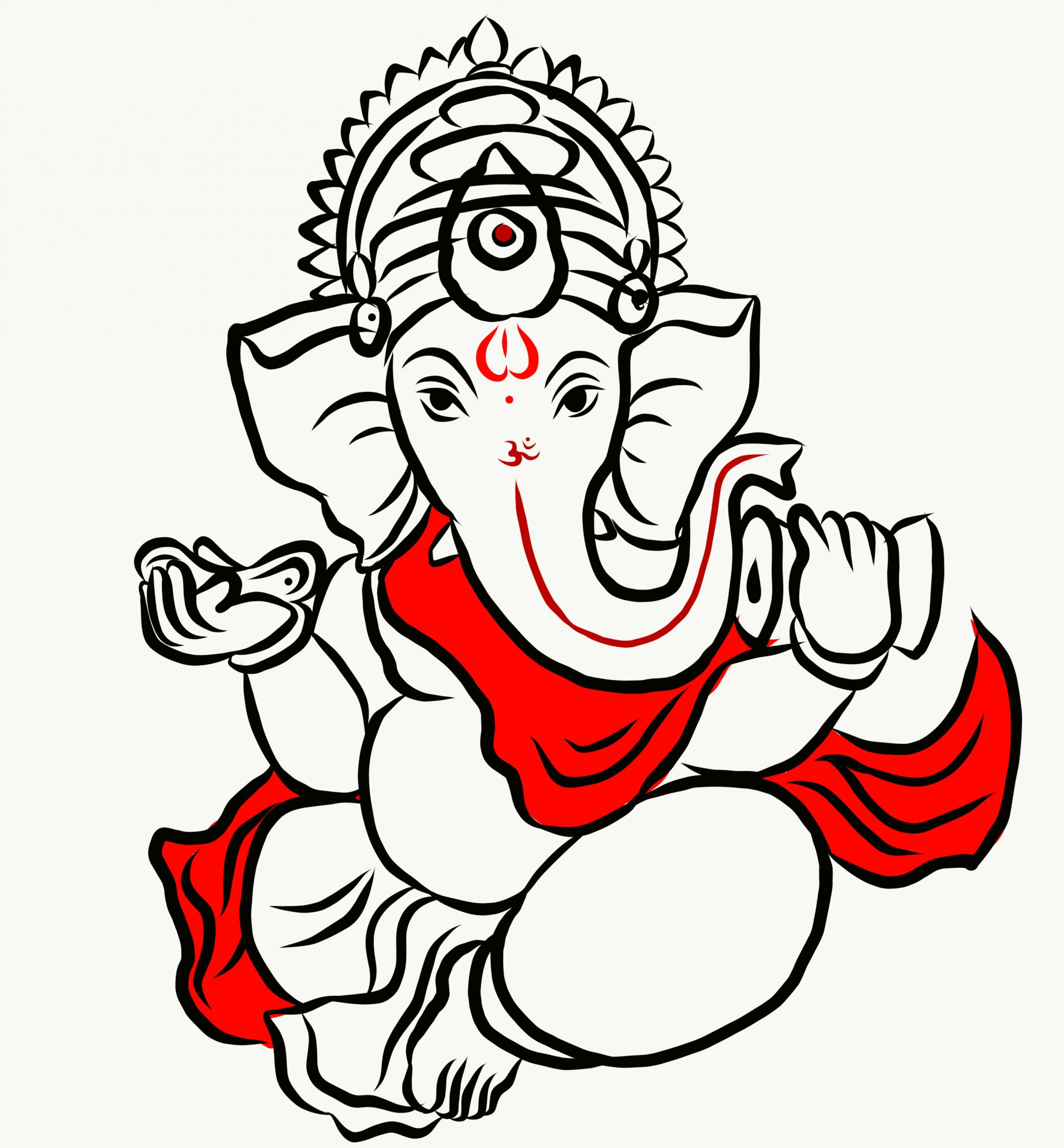 LORD GANESH ILLUSTRATION