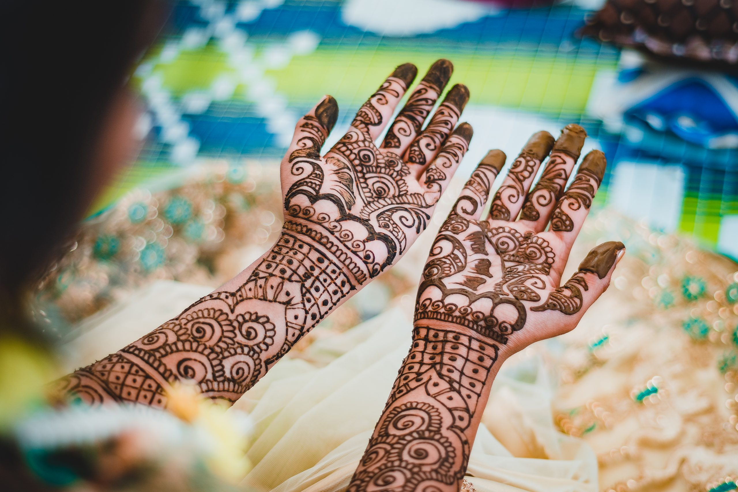 Mehendi on bride hand