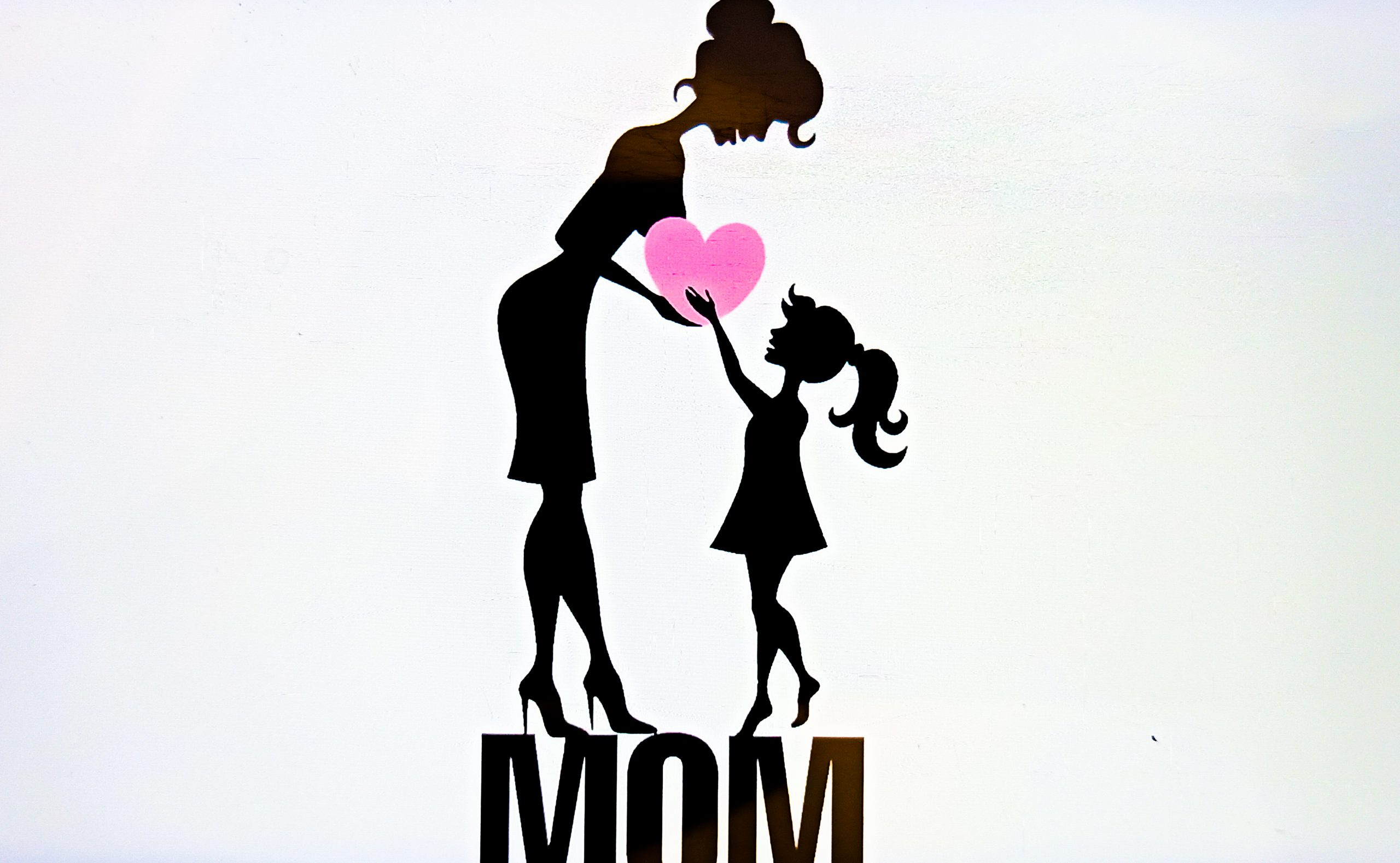 Mother and daughter love illustration