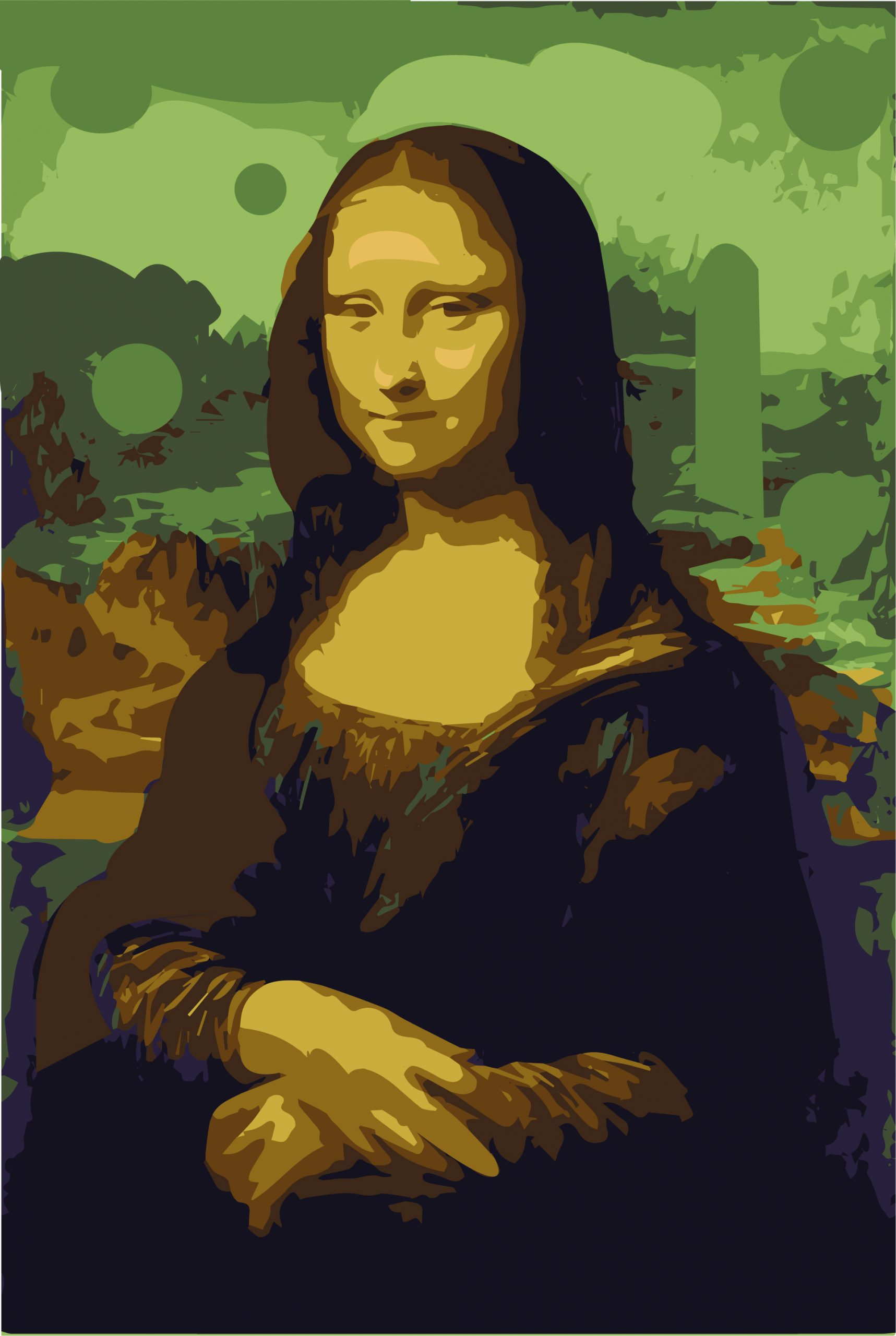 Illustration of Mona Lisa paiting