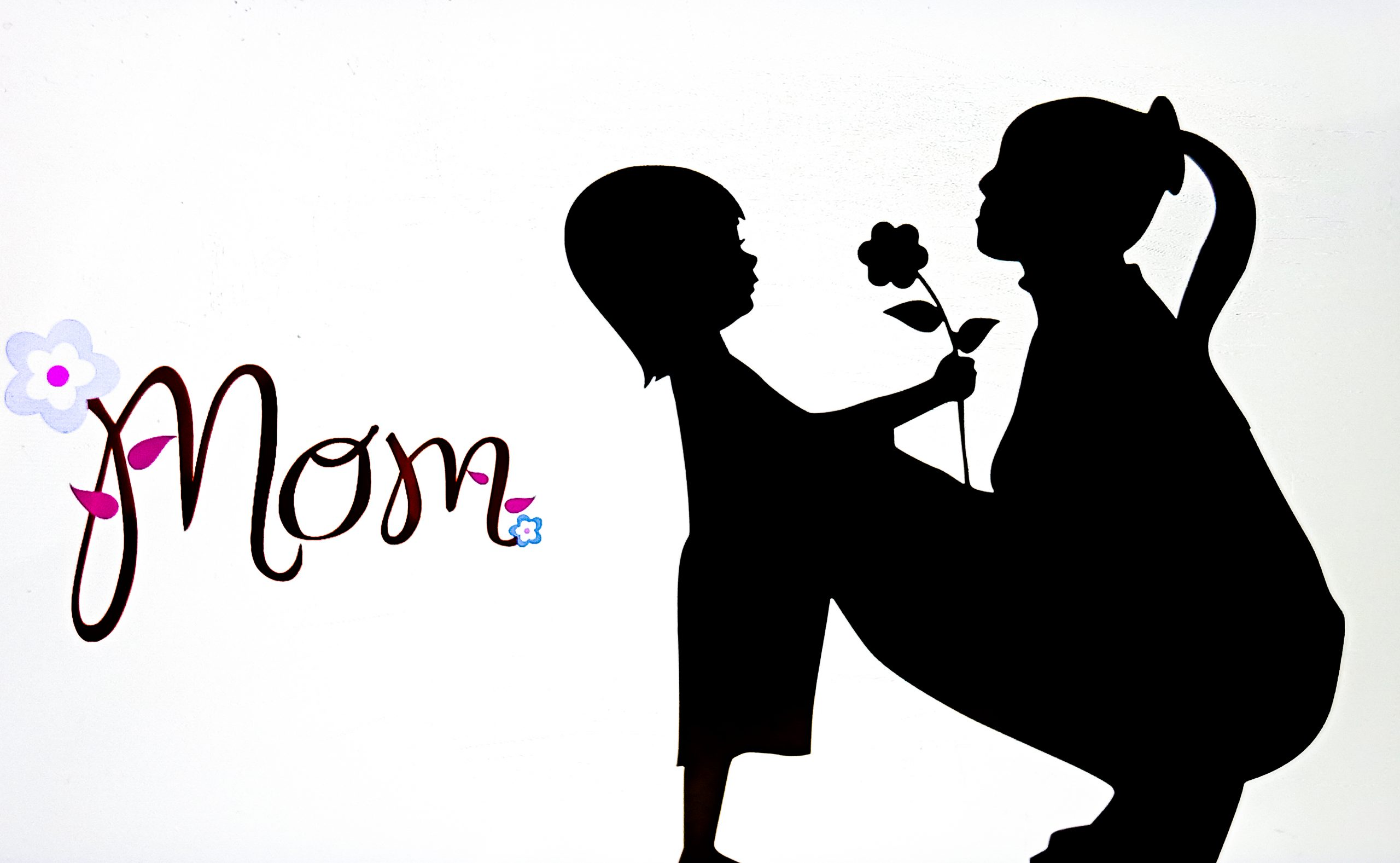 Mother and baby love illustration