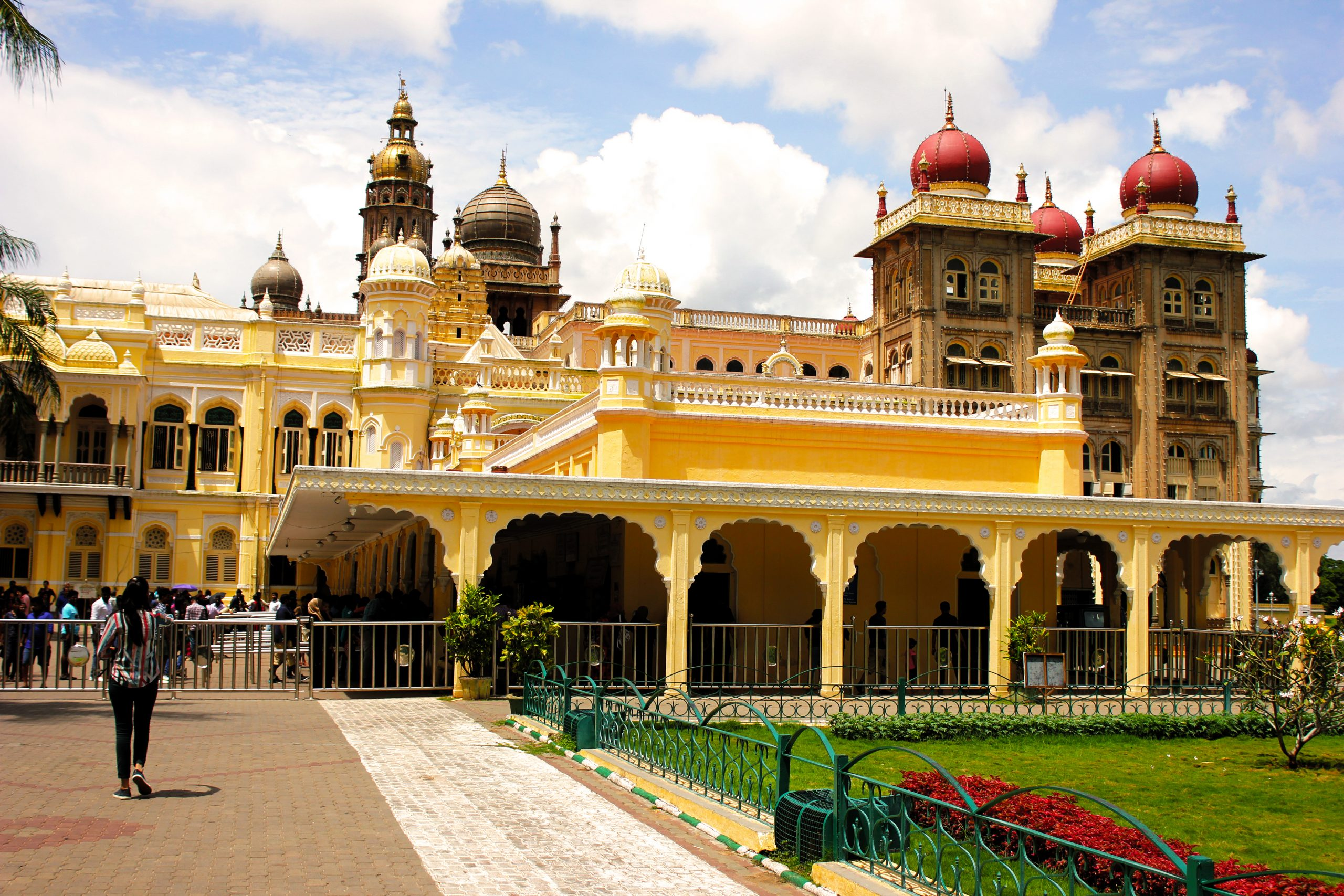 People at Mysore Palace