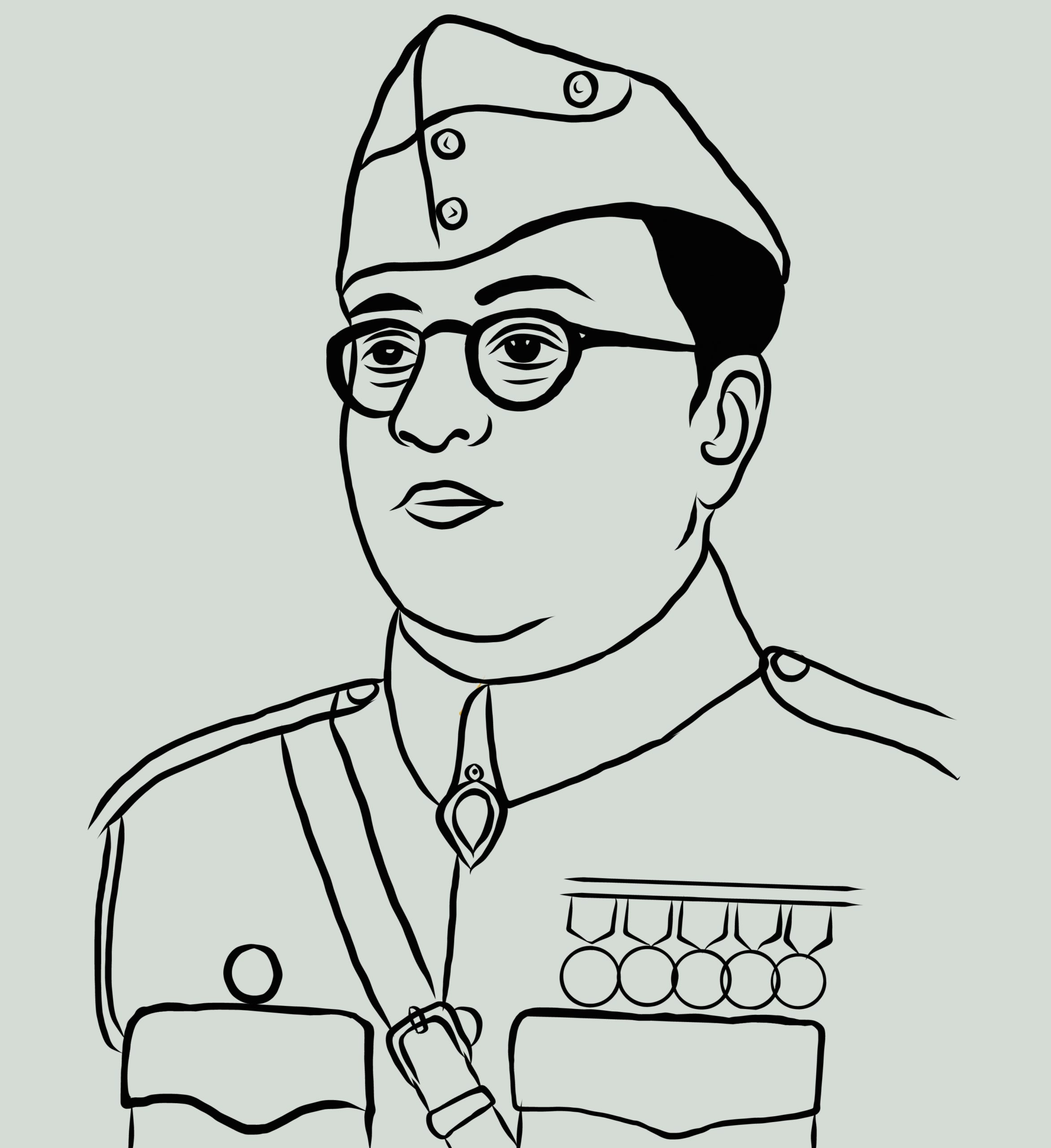 Illustration of Nataji Subash Chandra Bose