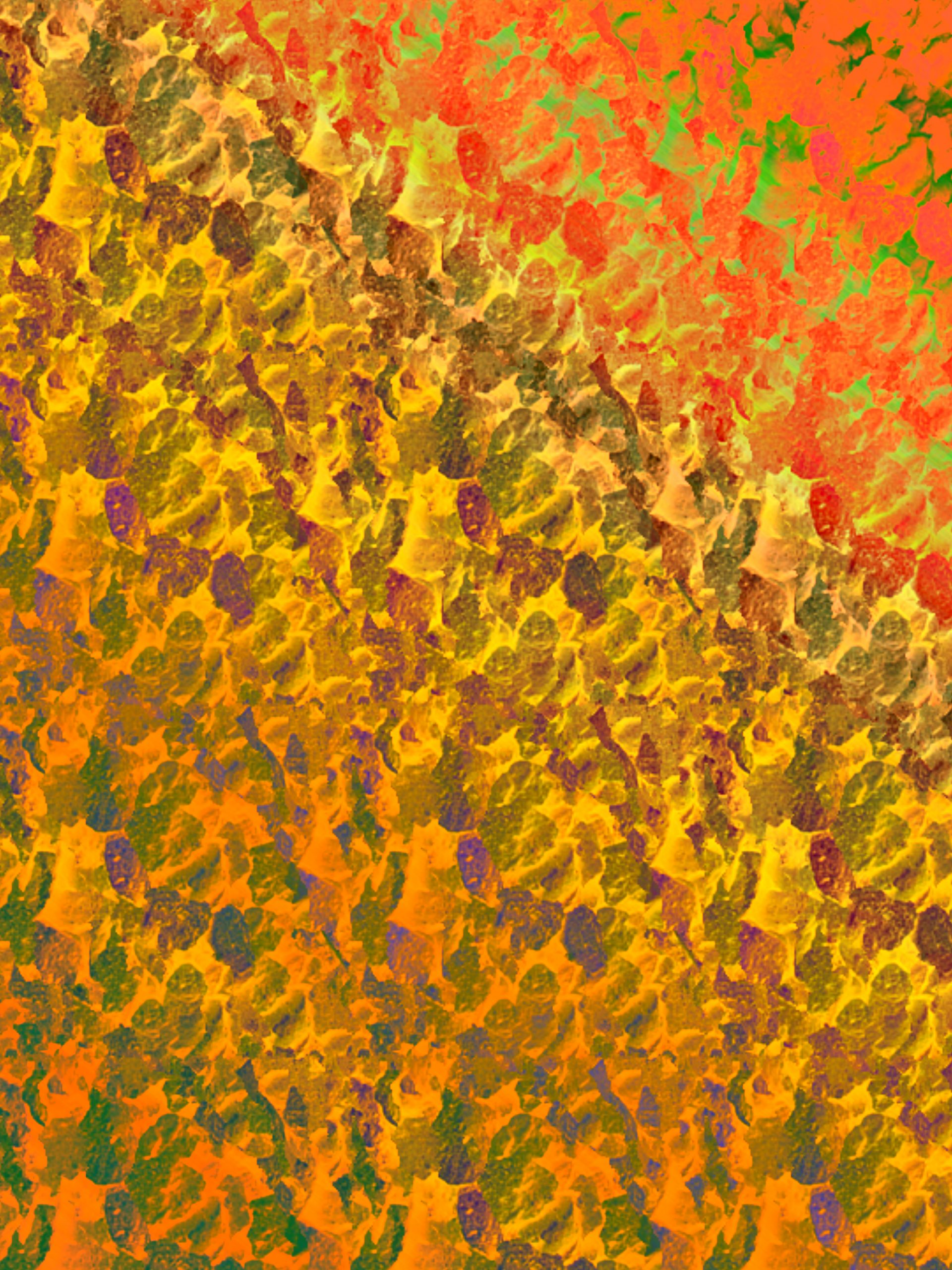 Fiery orange design illustration