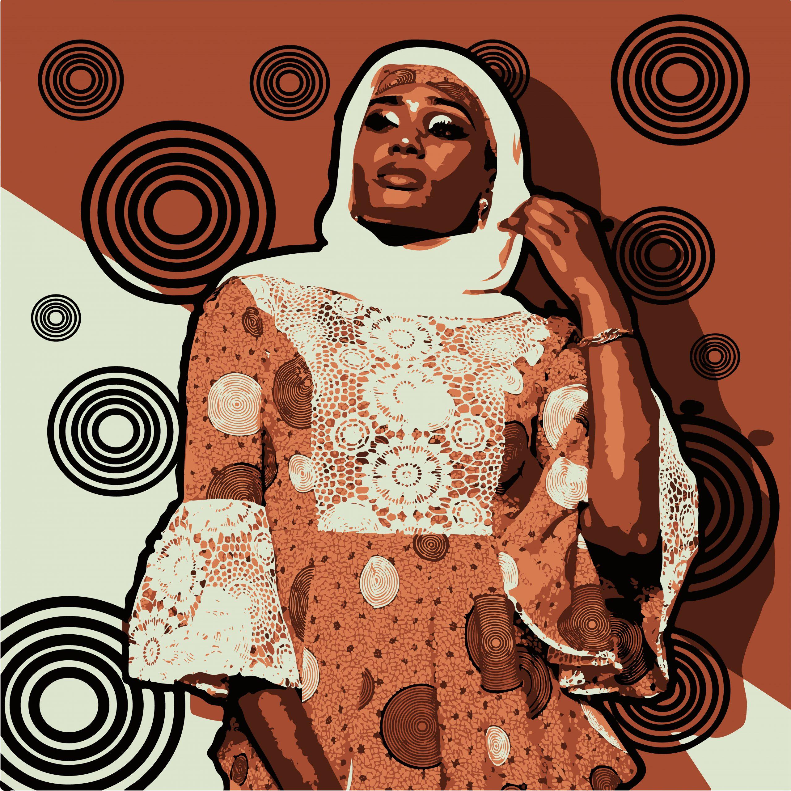 Portrait illustration of a woman