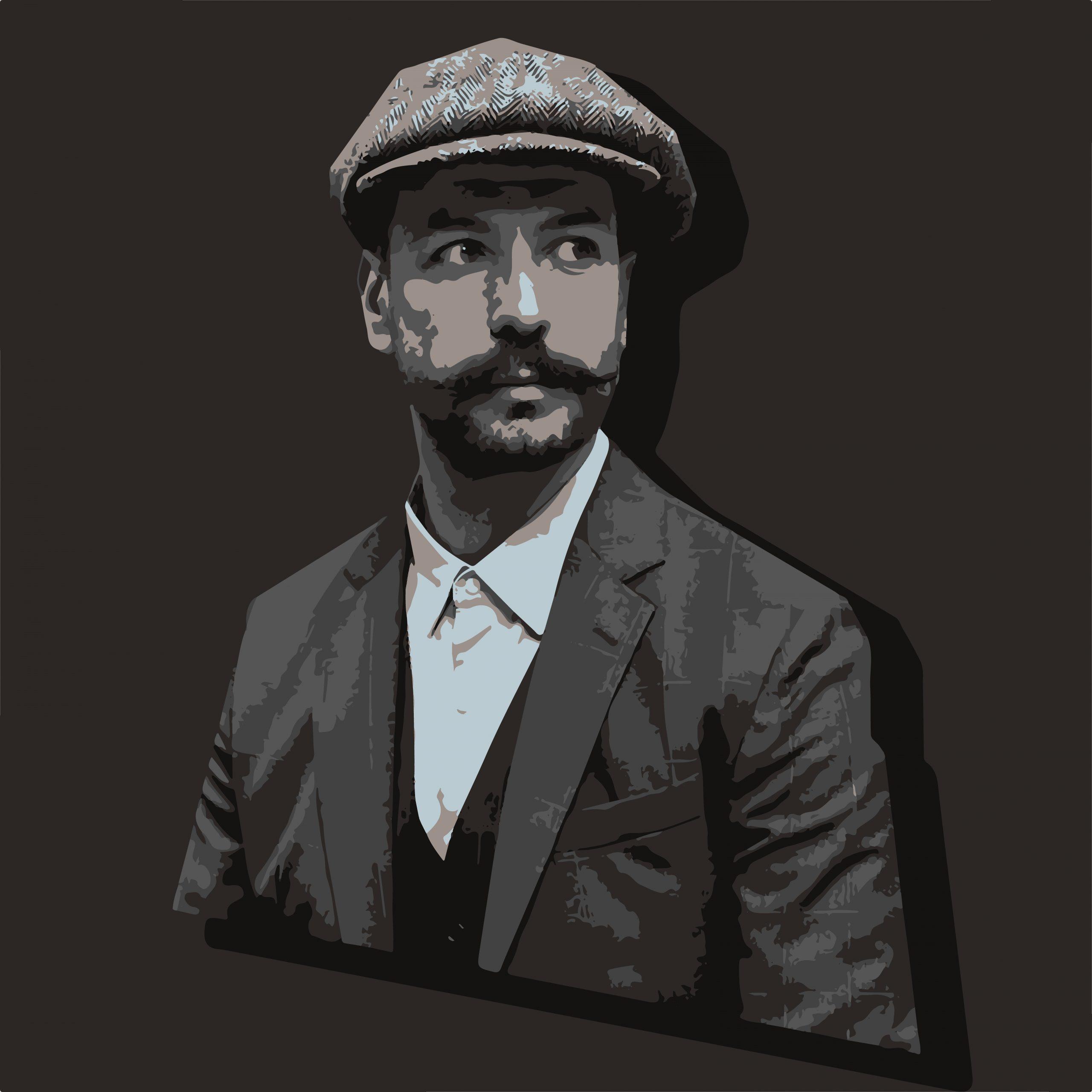 Portrait illustration of a man