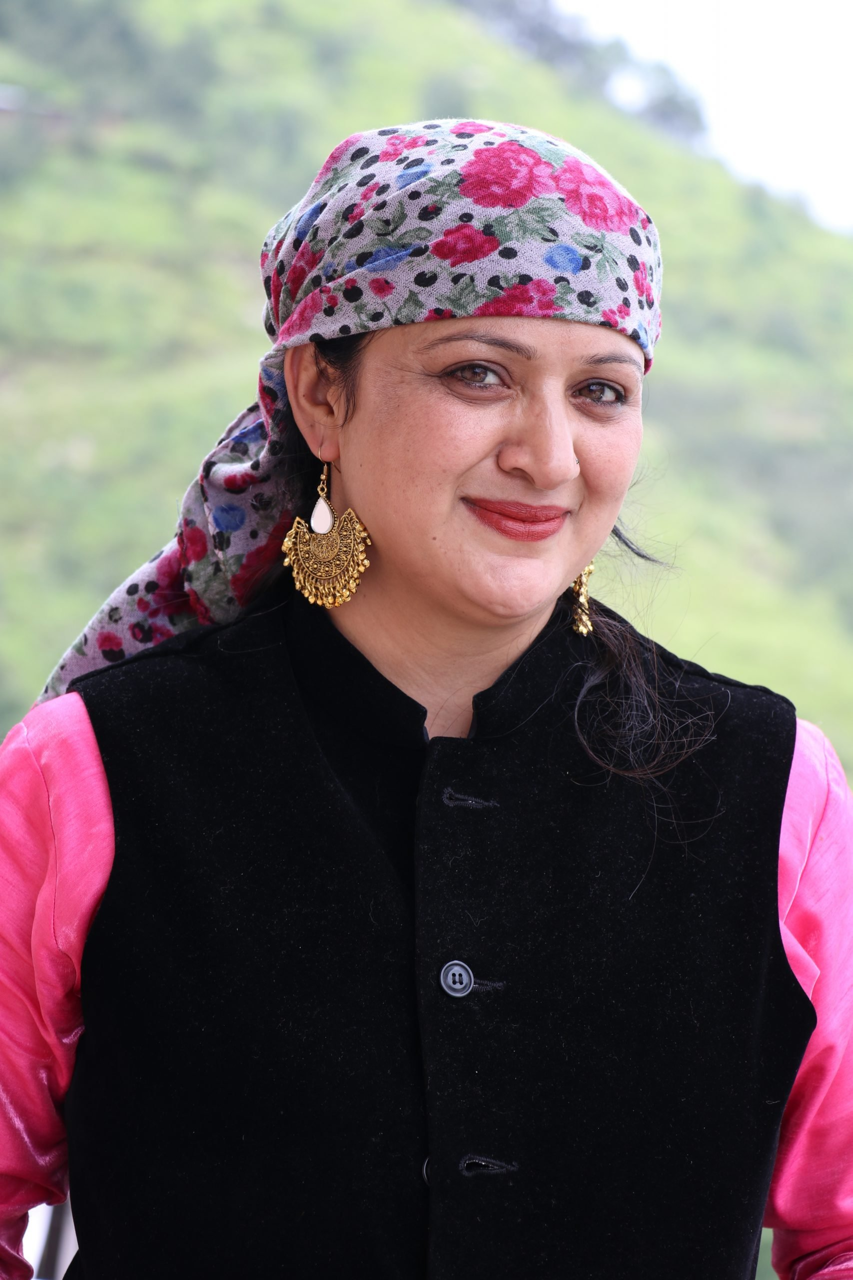 A woman in Himachal traditional dress