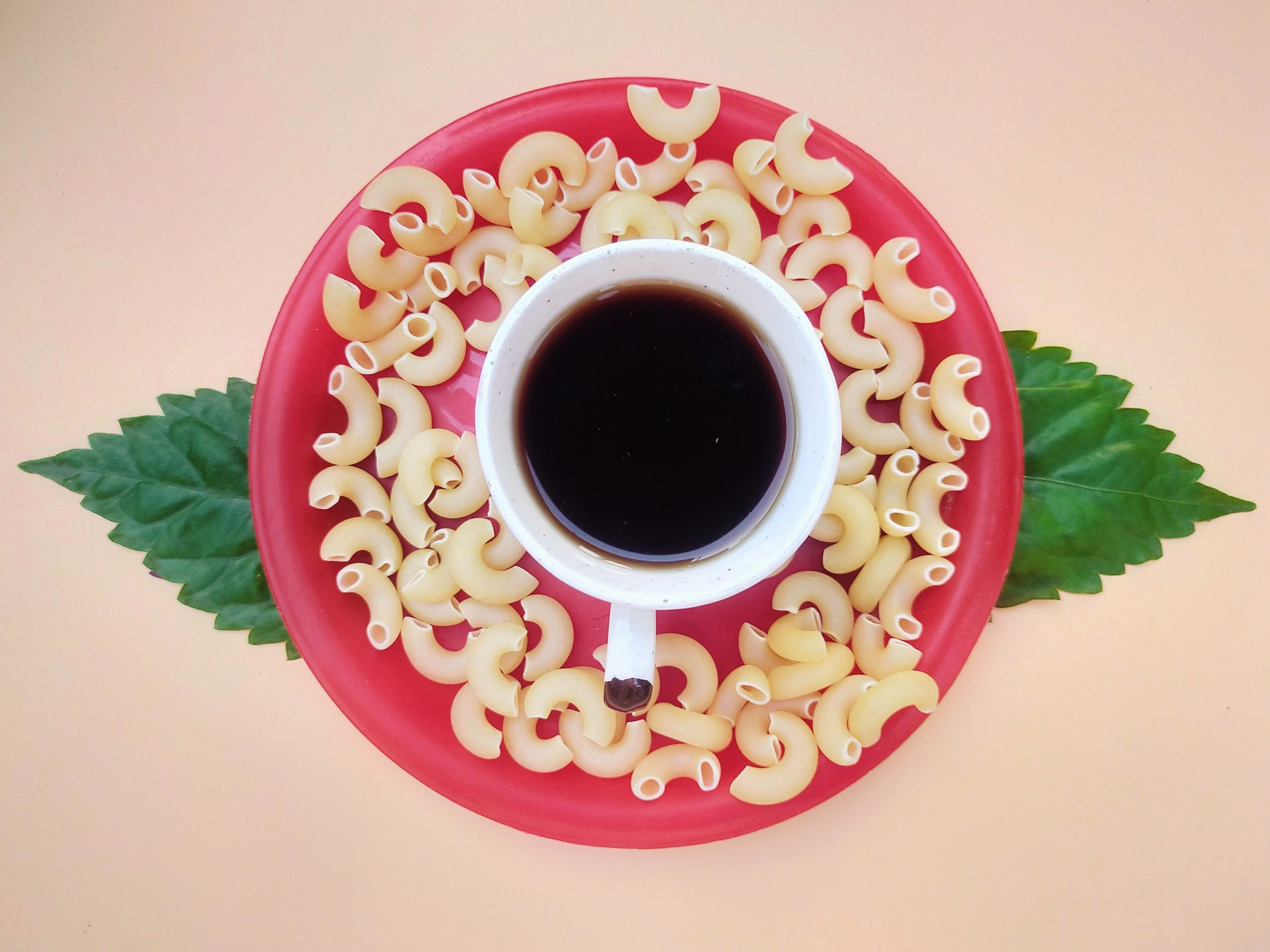 Pasta with Black tea