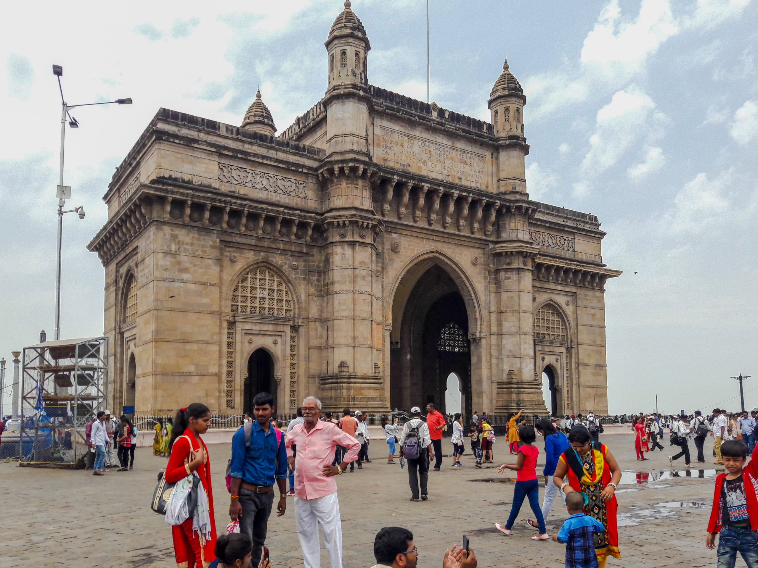 People near Gateway of India in Mumbai