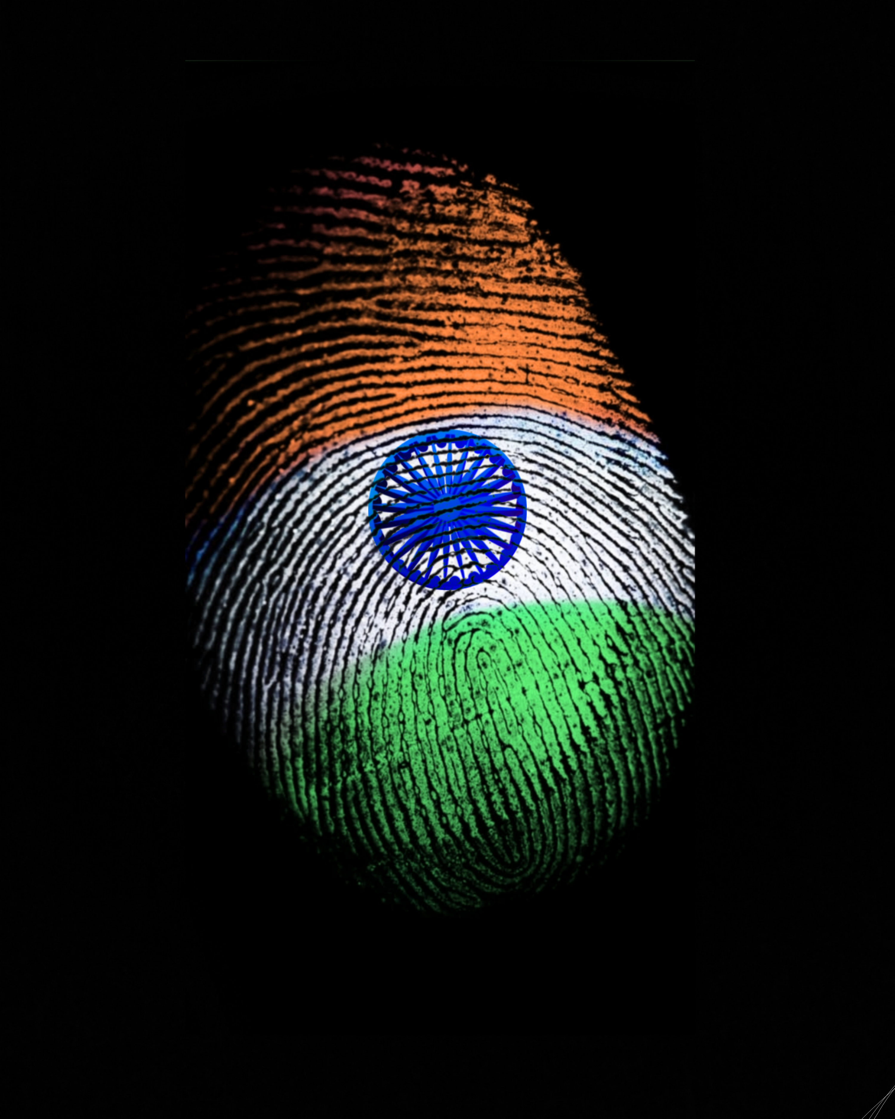 Indian flag as thumb impression