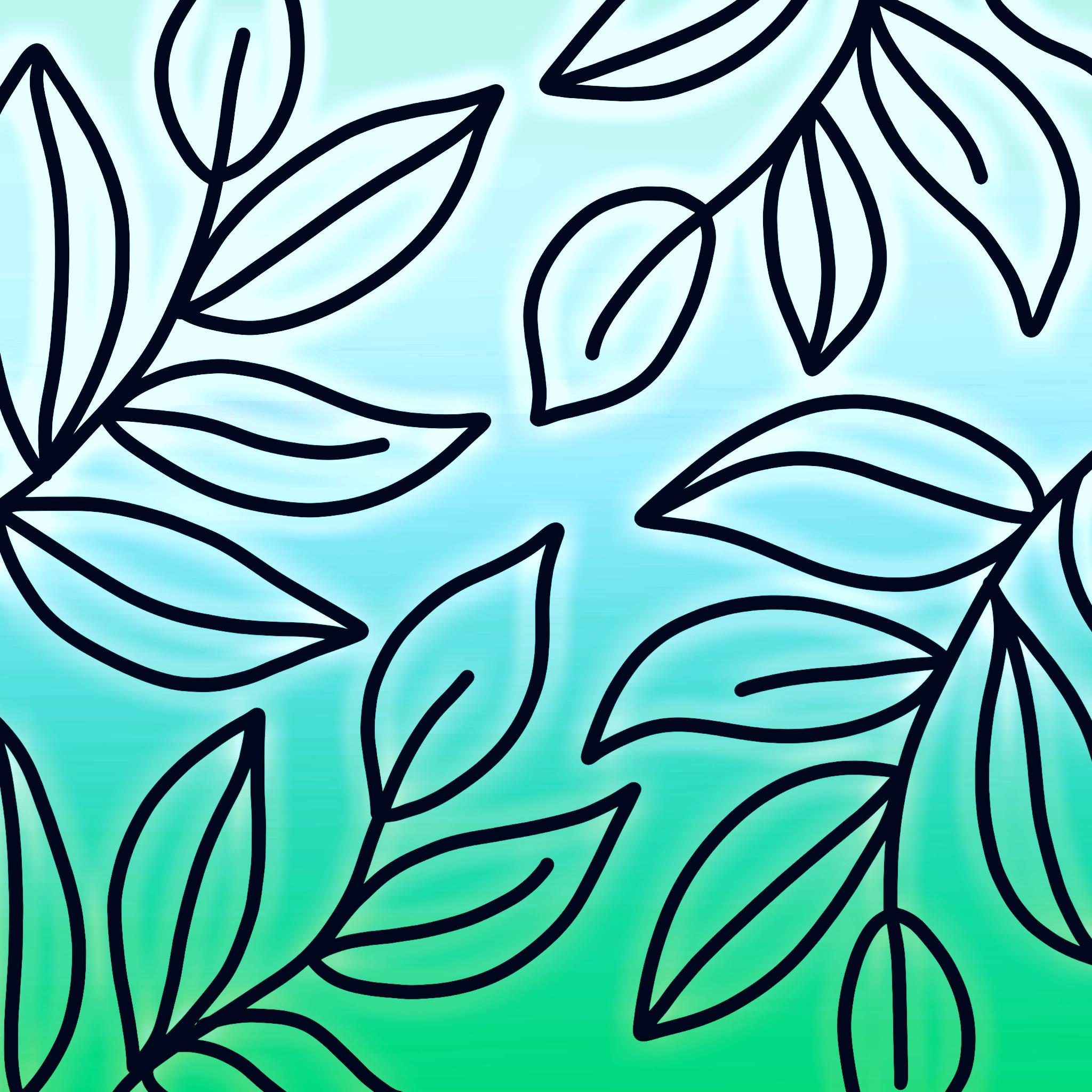 Plant leaves design illustration
