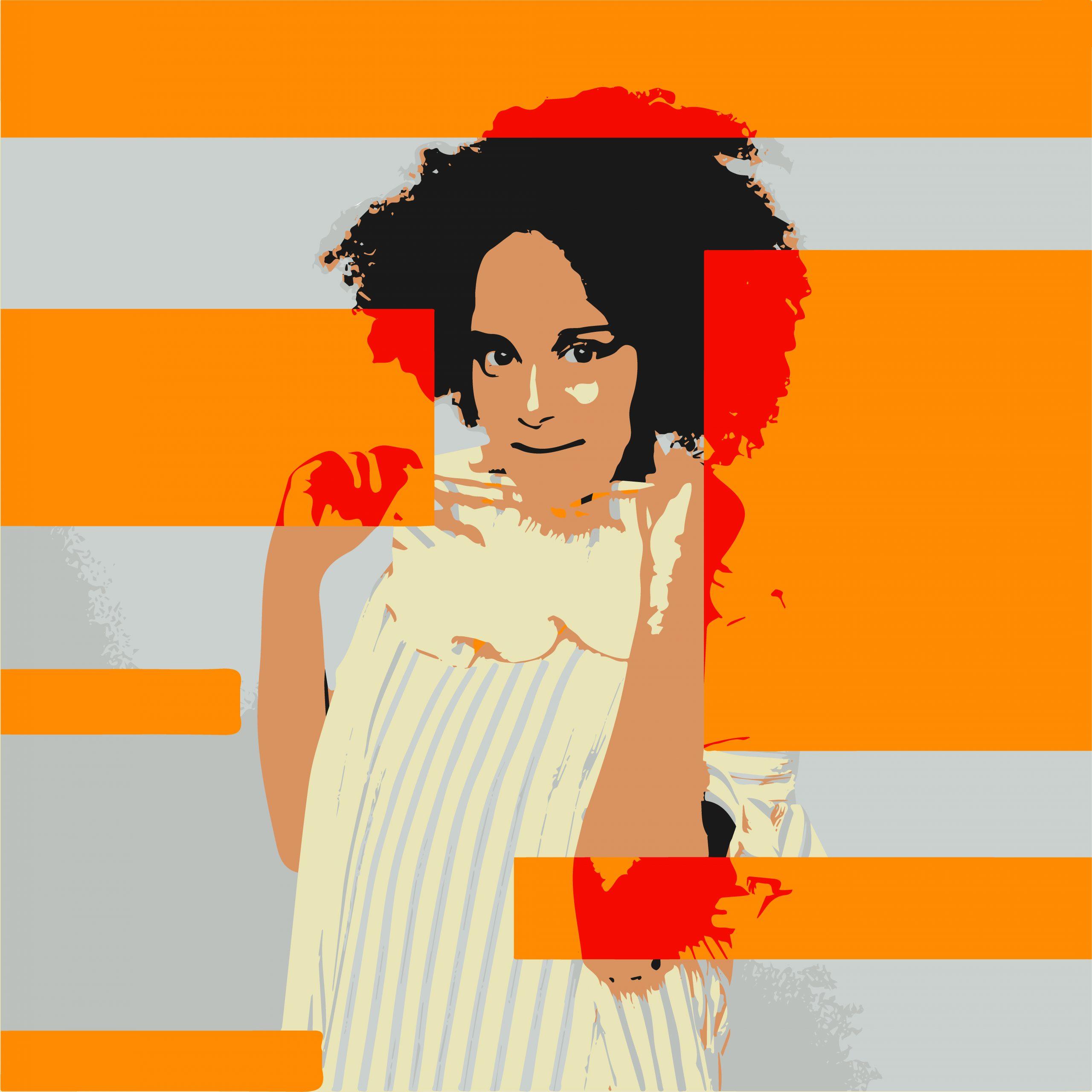 Portrait illustration of a girl