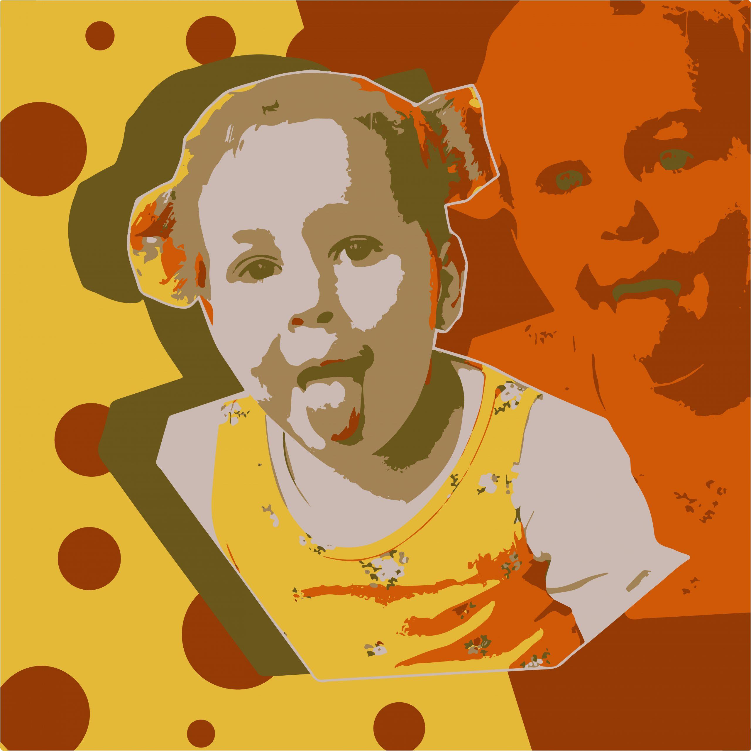 Portrait illustration of a kid