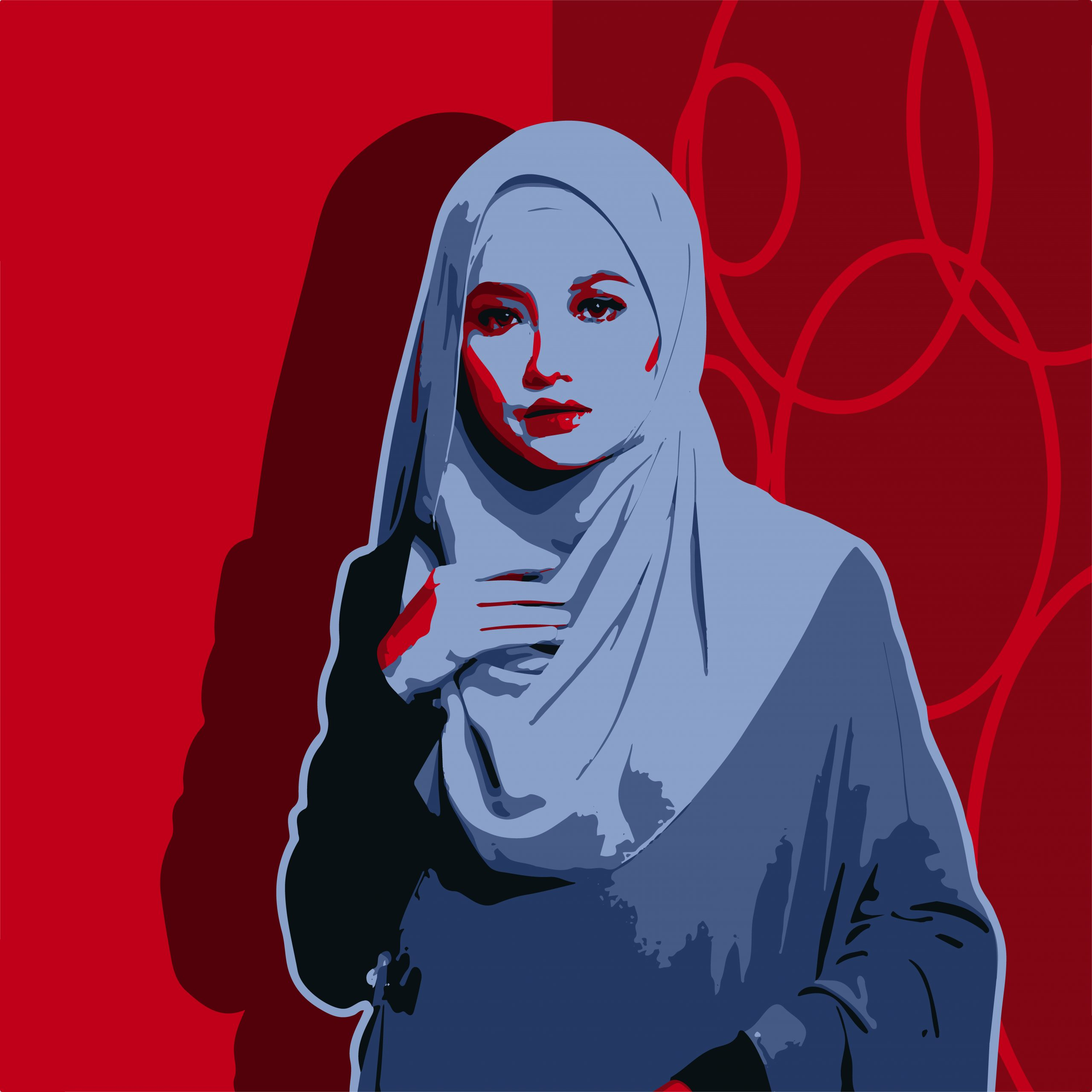 Portrait of a Muslim girl