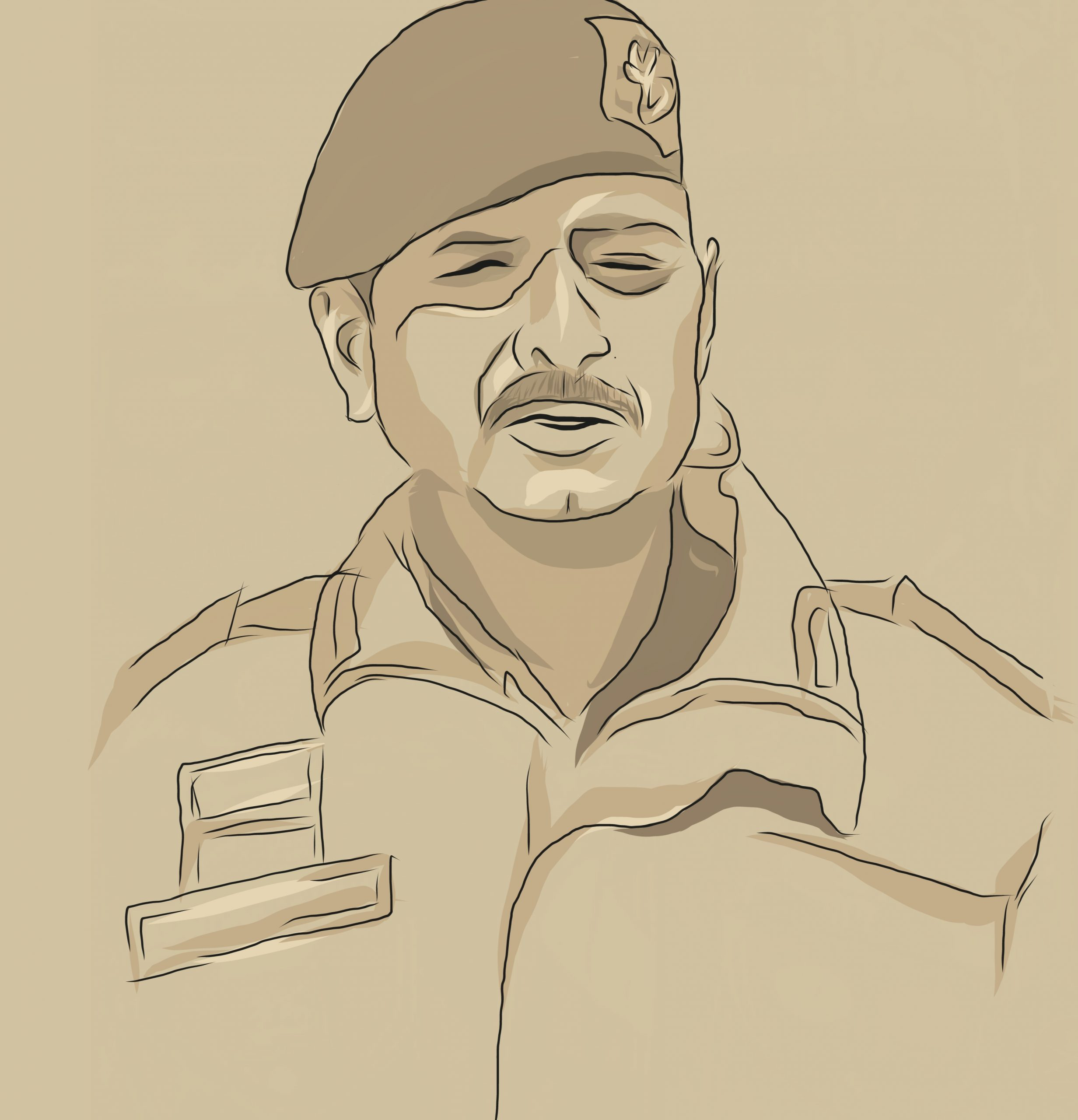 Portrait of an Indian army man