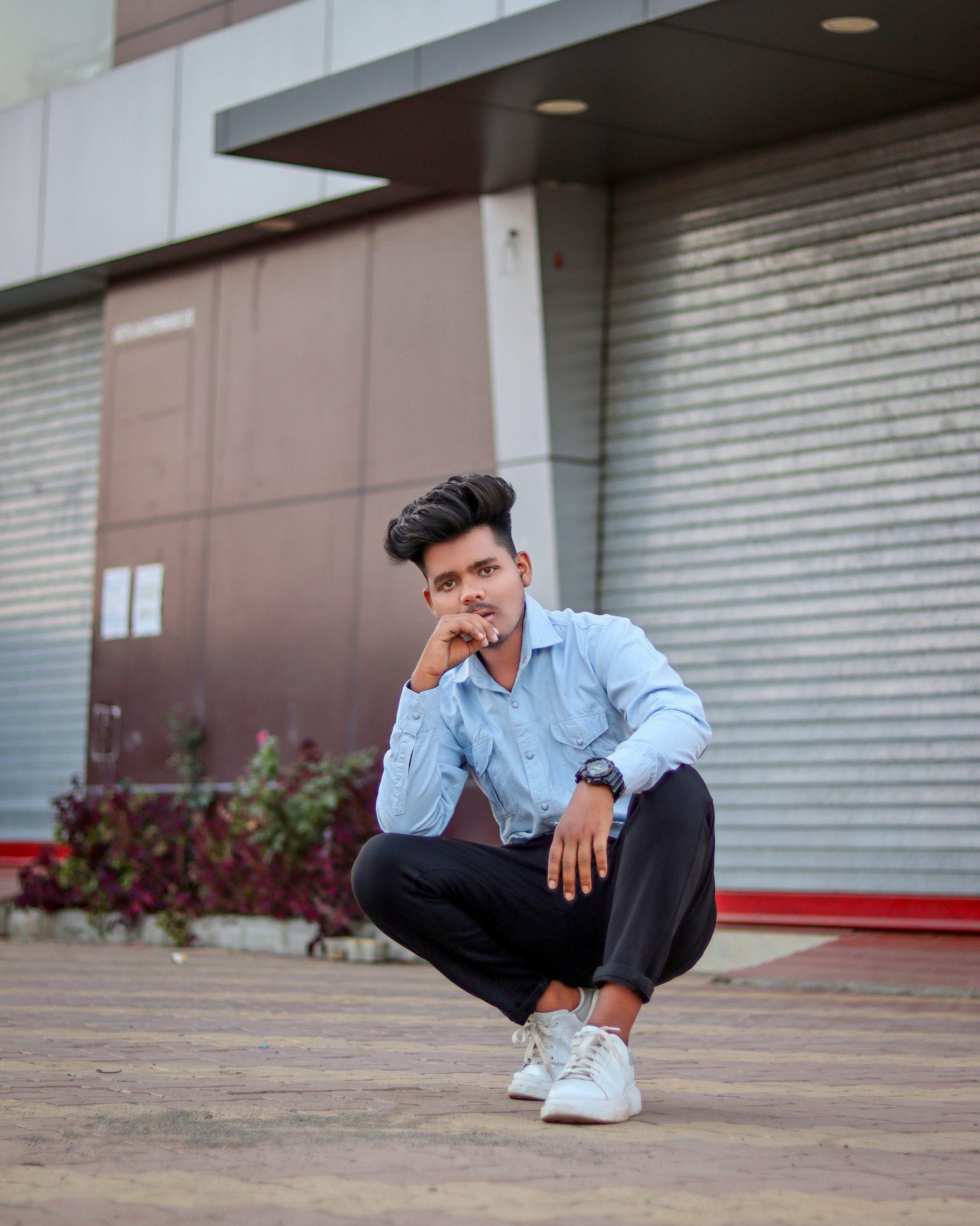 Boy posing