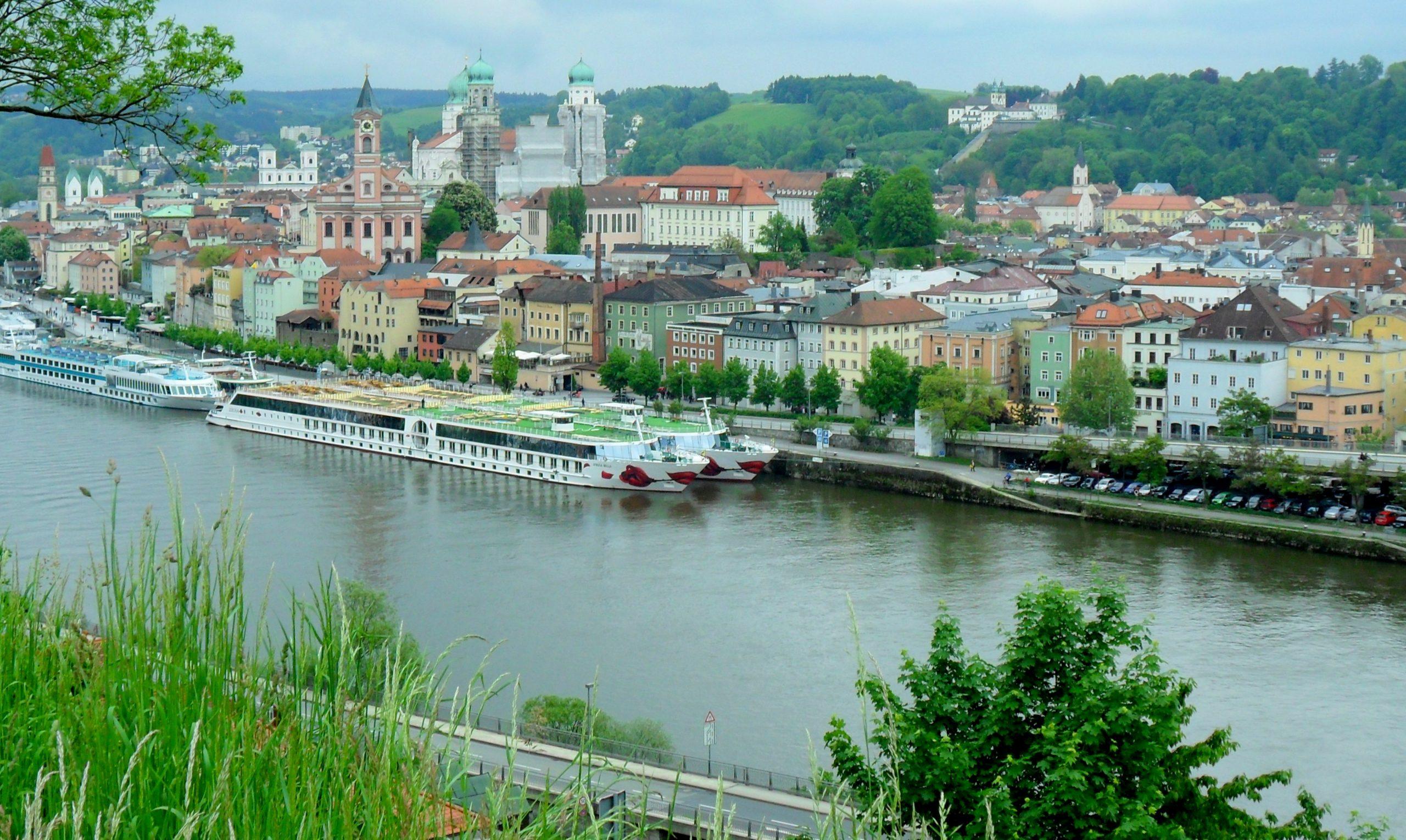 River near the city