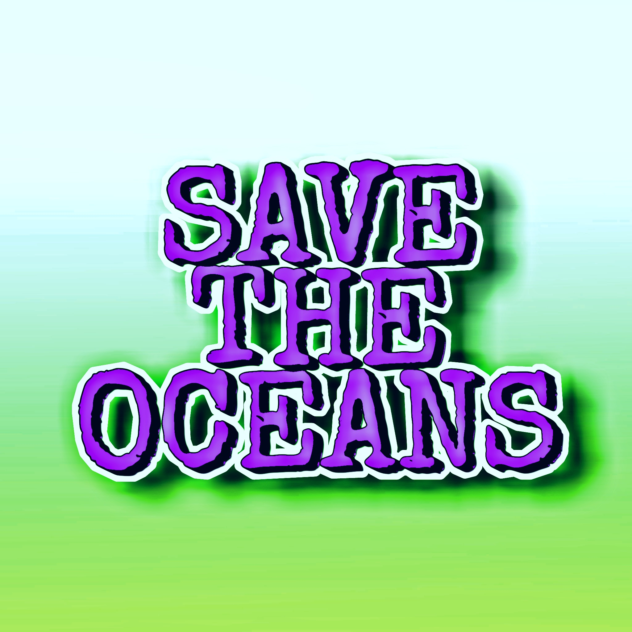 Save the ocean illustration