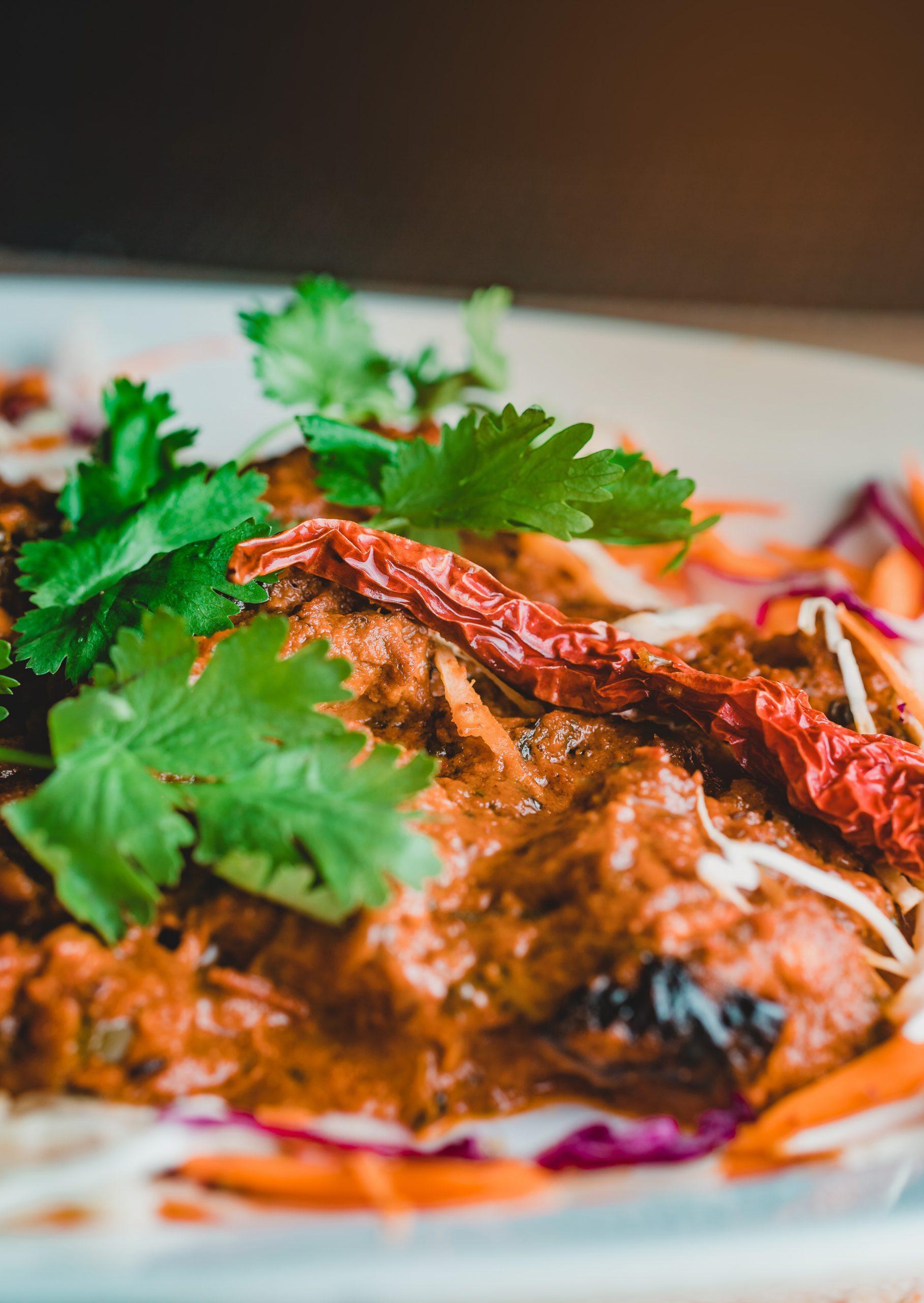 Spicy food dish