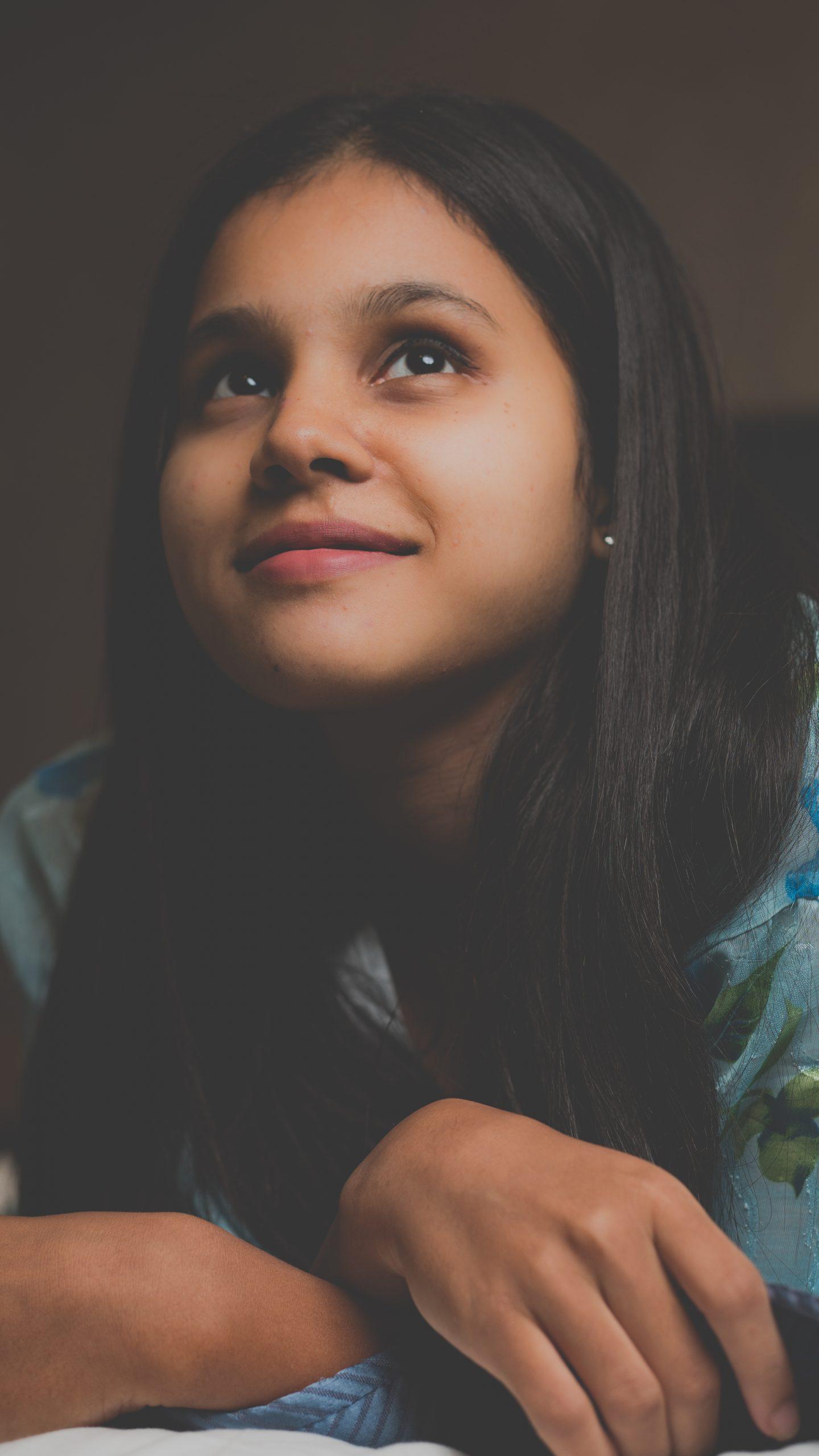 Stylish girl posing while smiling