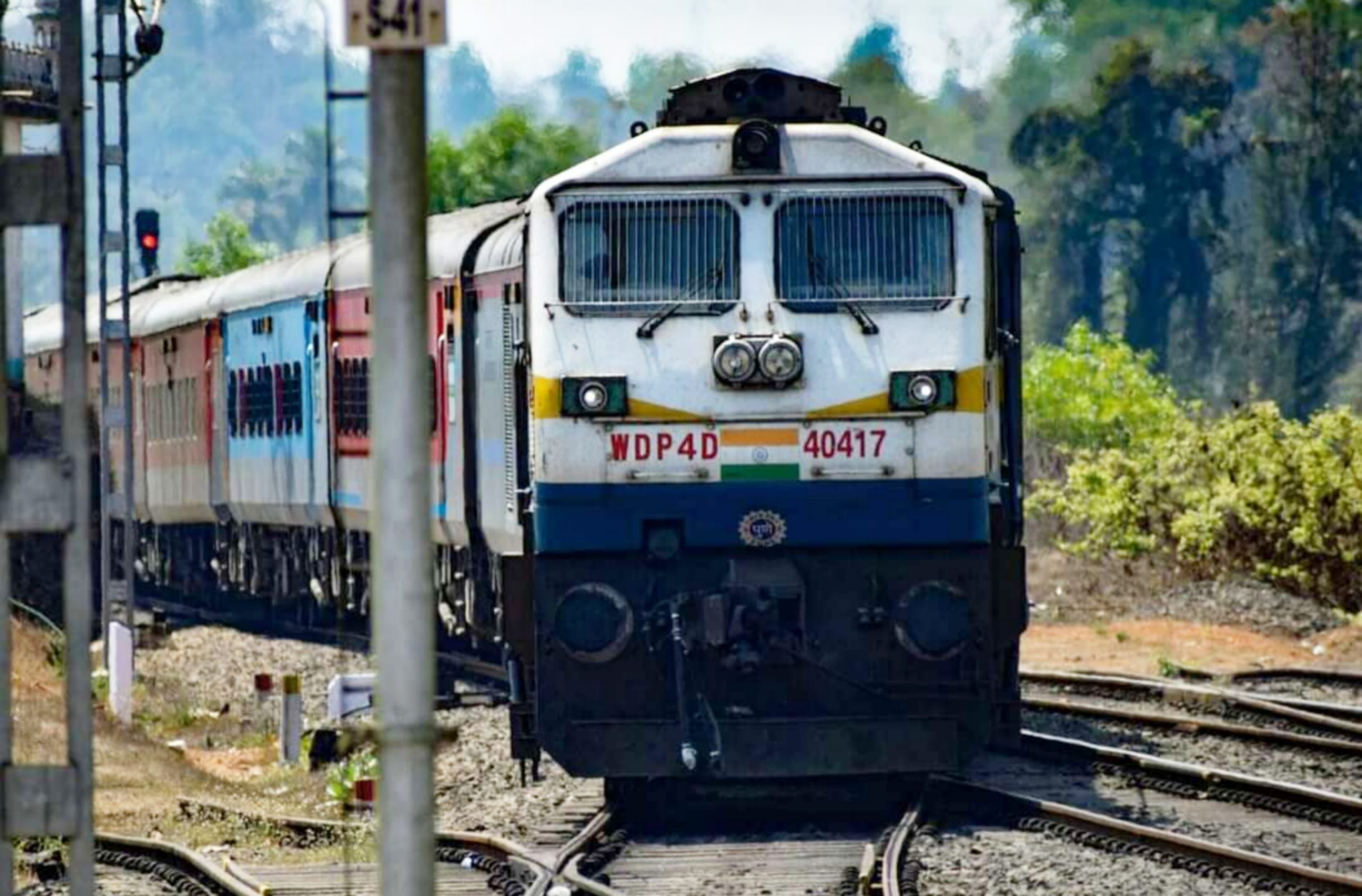 Train on railway track