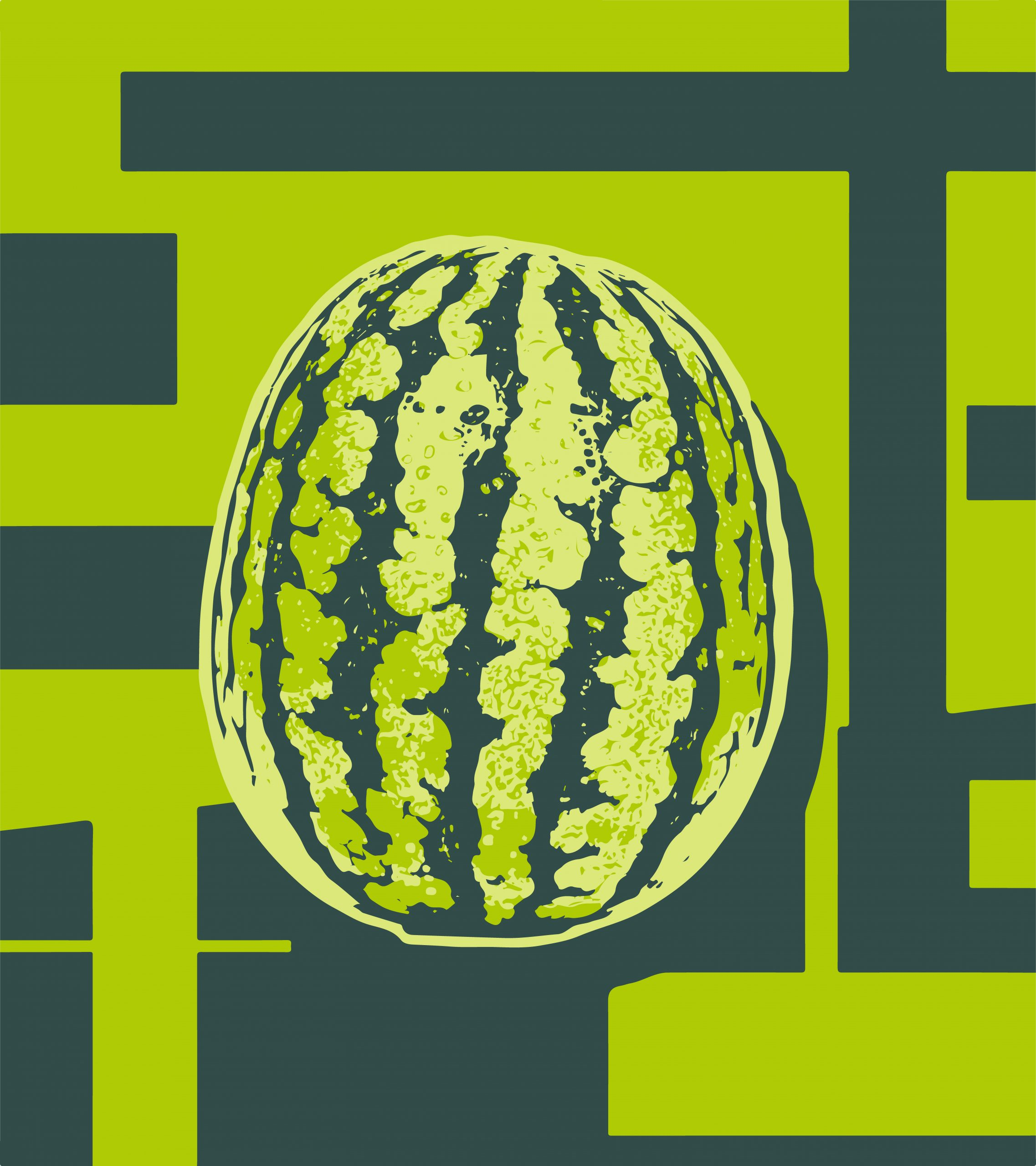 Illustration of a watermelon