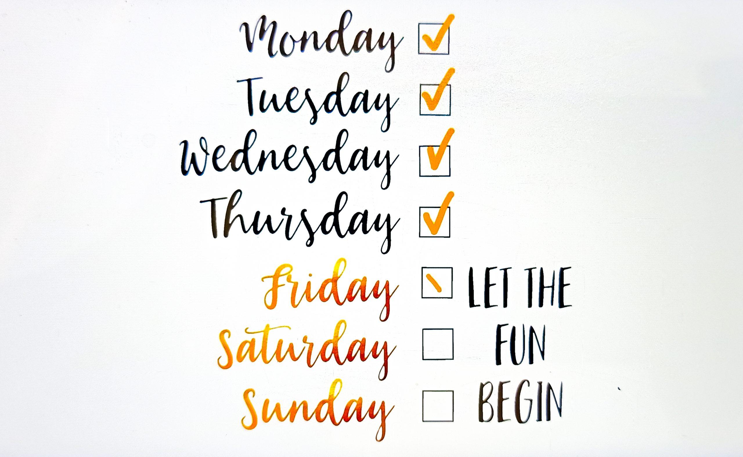 Weekday illustration