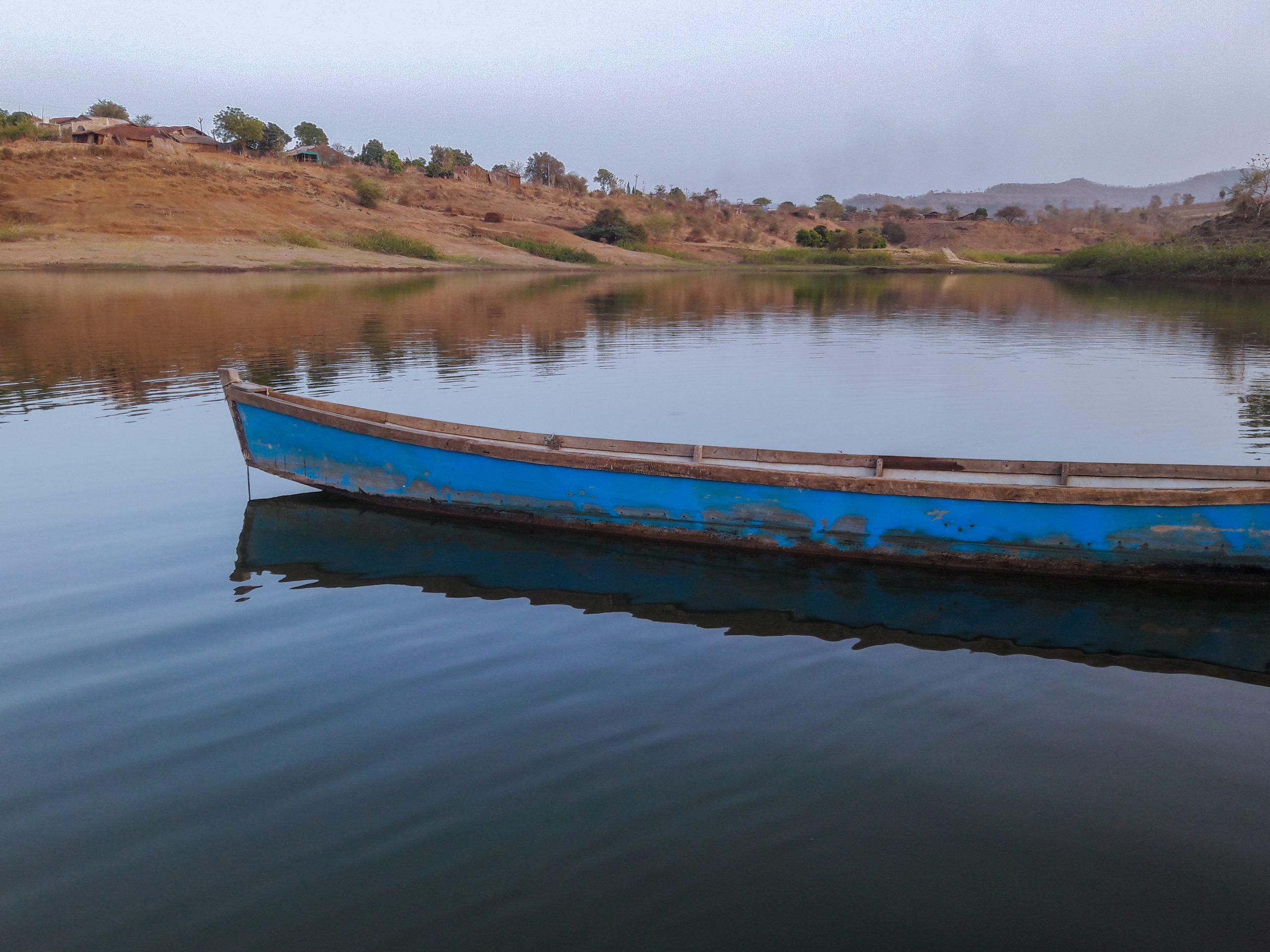 Wooden Boat in lake