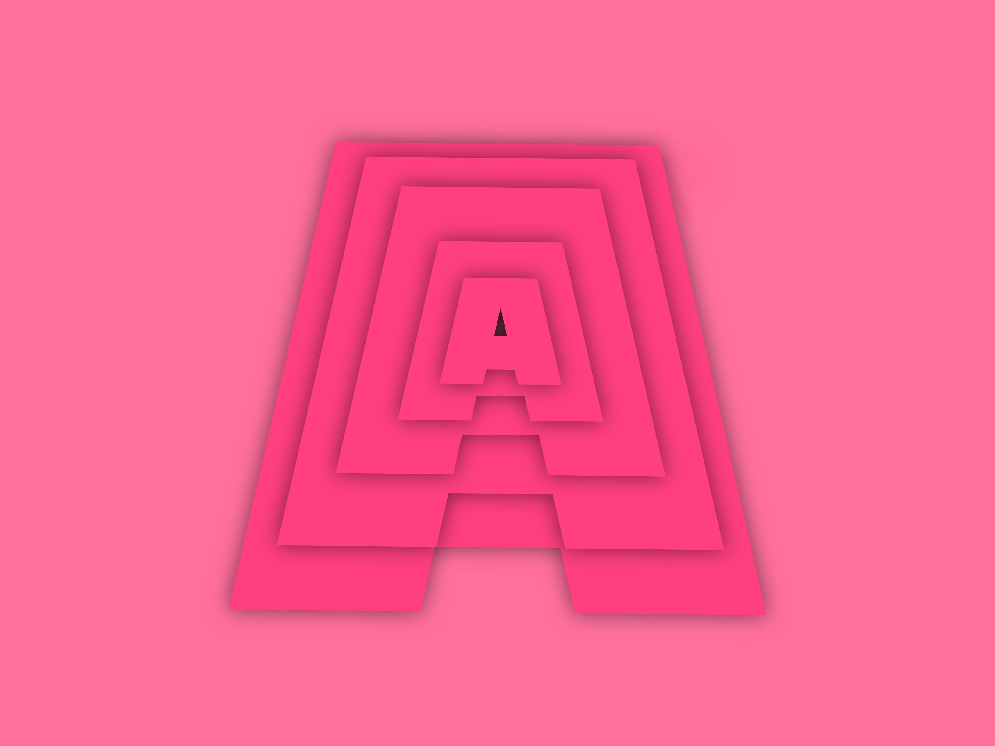 illustration English alphabet A