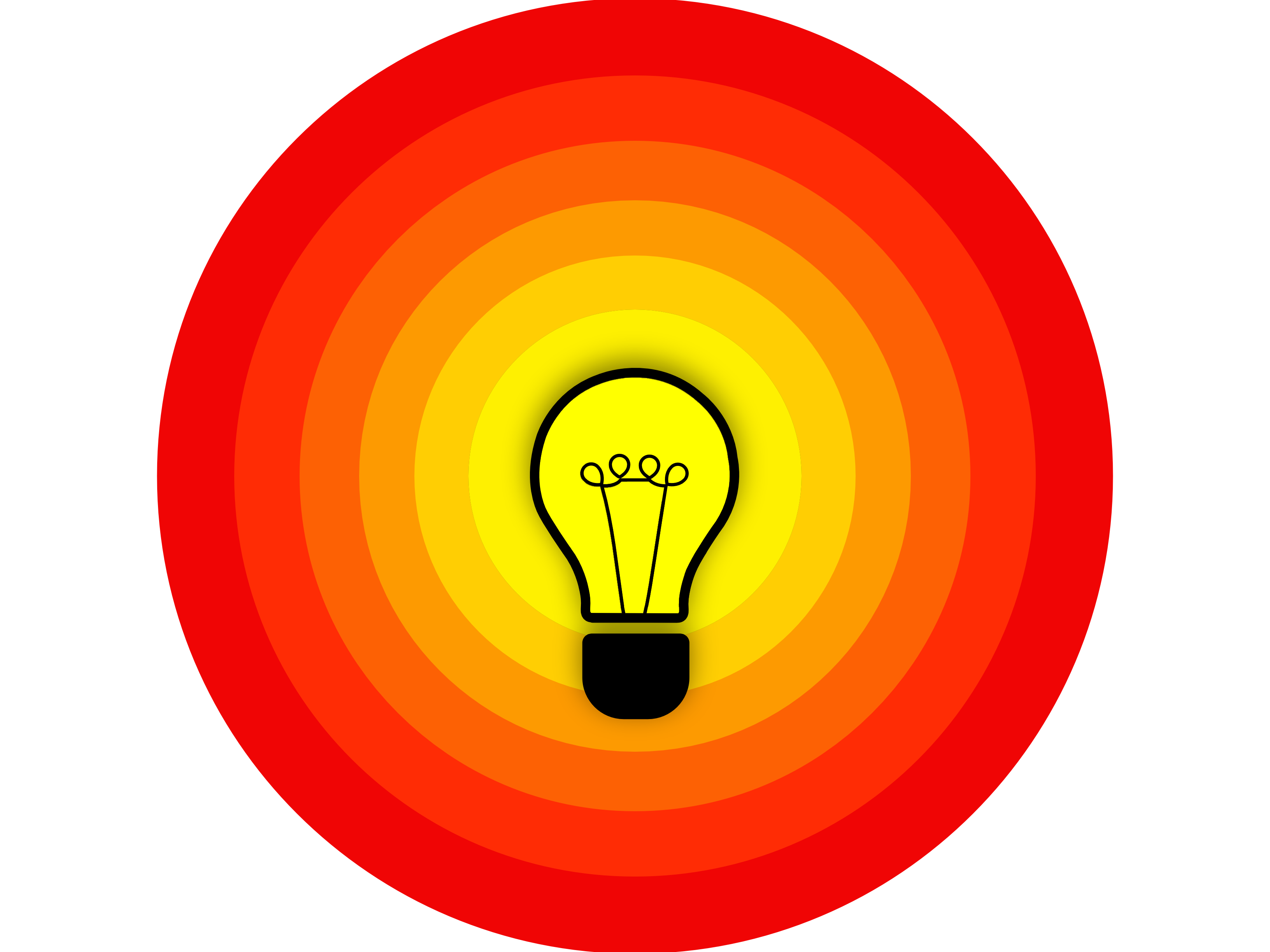 Illustration of a illuminating bulb