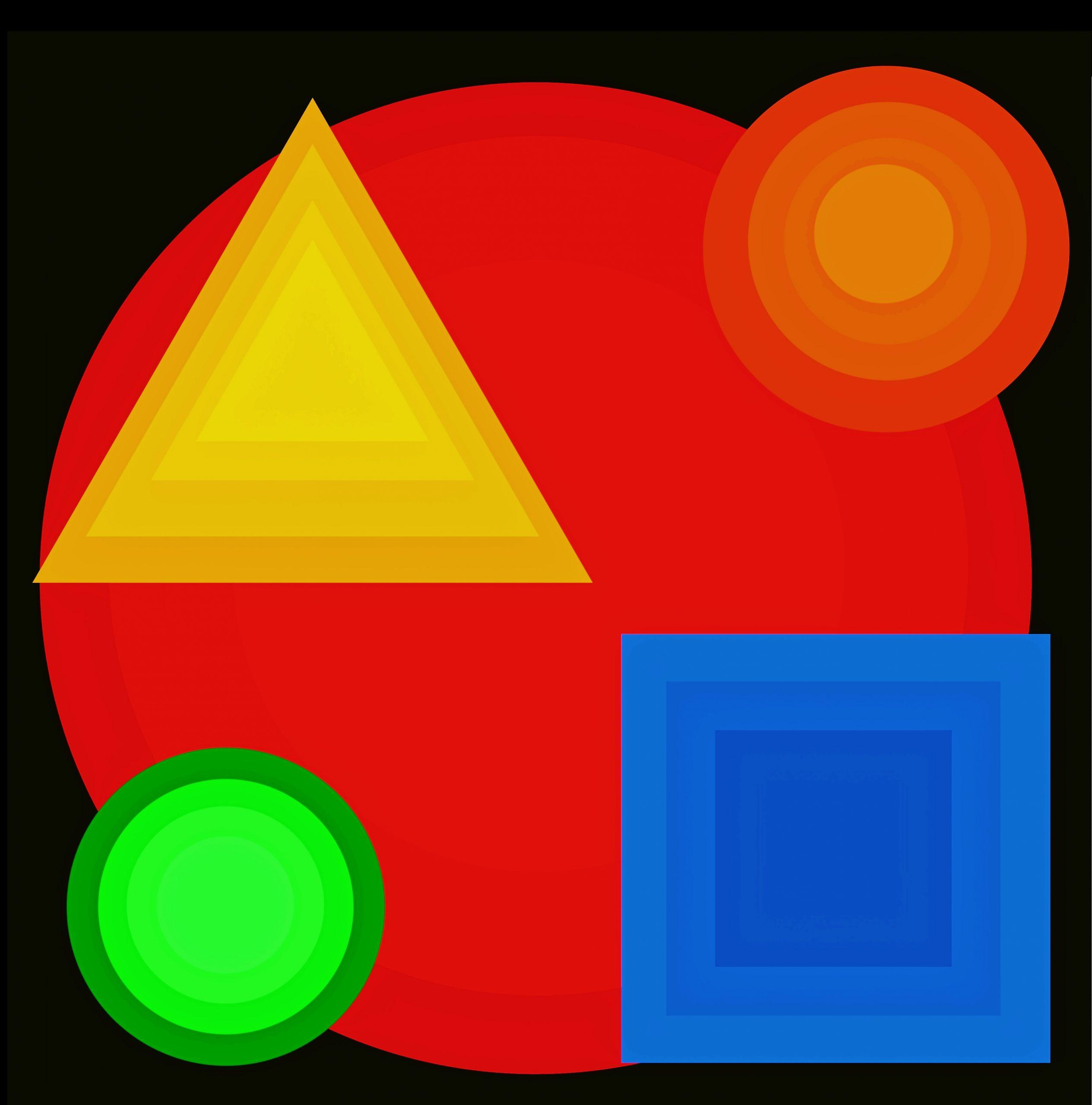 illustration of geometrical shapes
