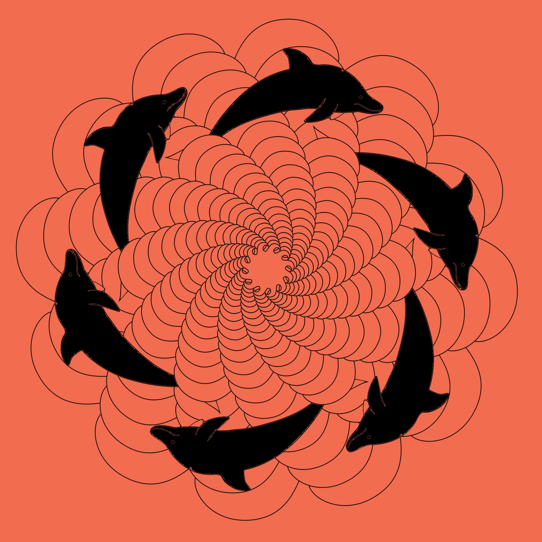 Mandala drawing illustration