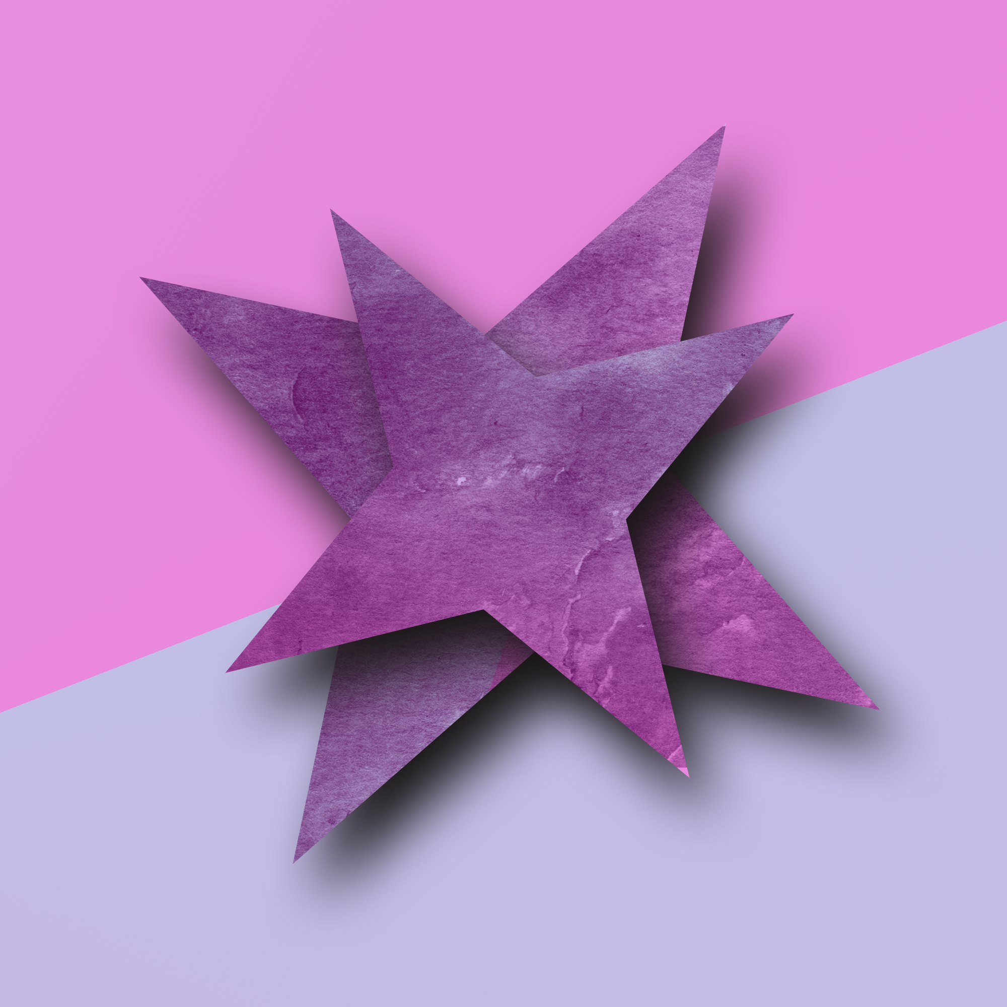 A star shape made with paper