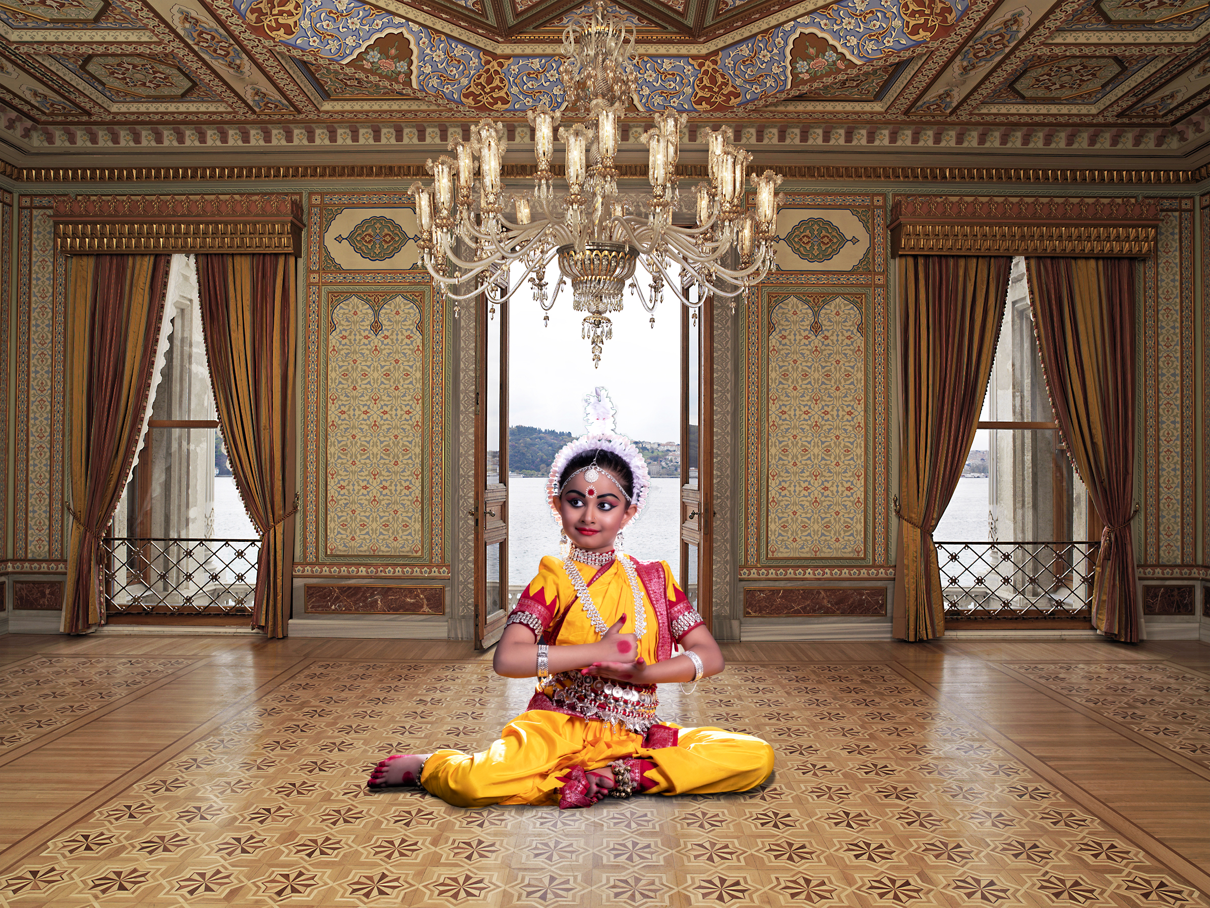 A child classical dancer